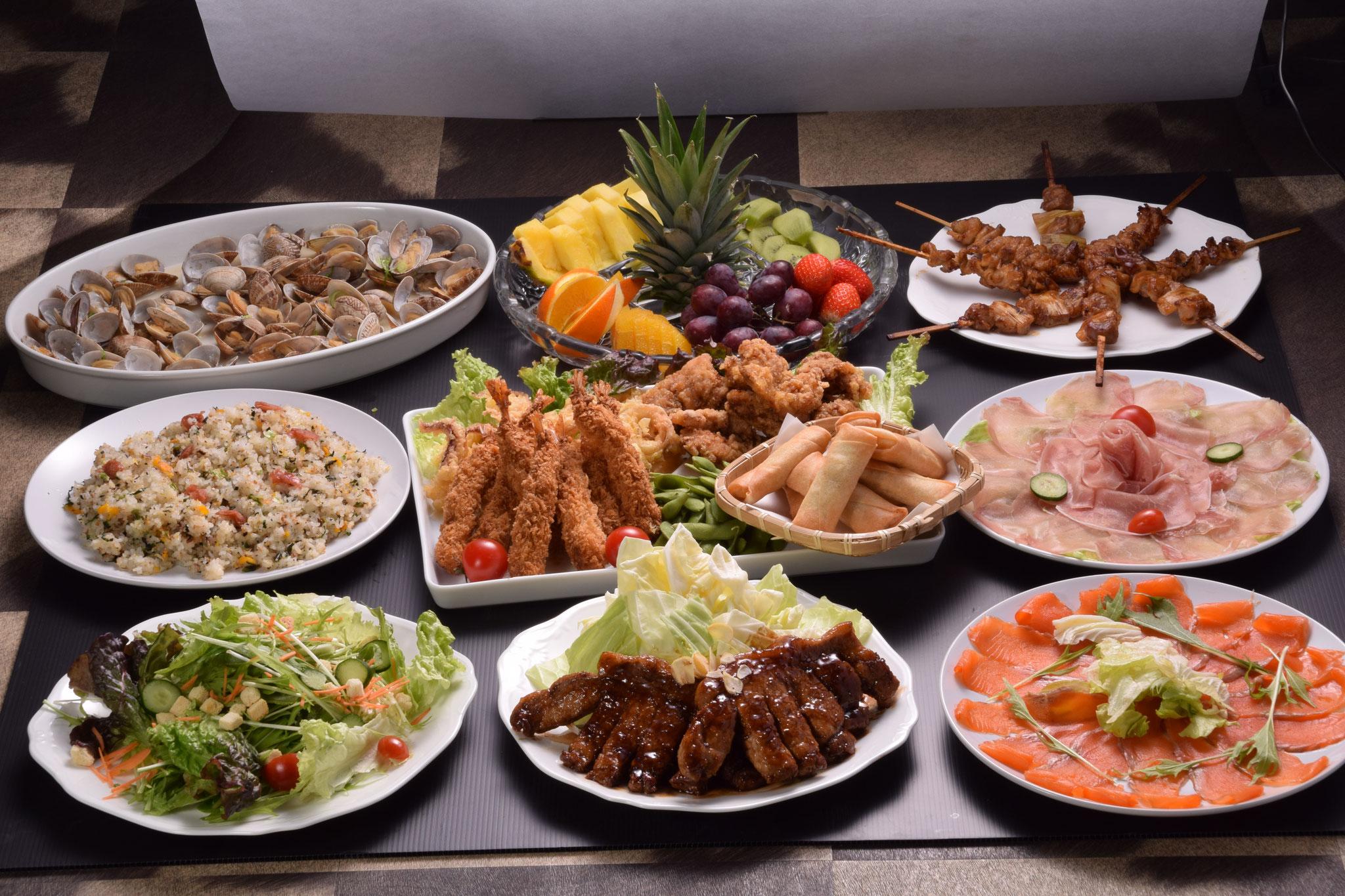宴会料理の一例(サイドは季節によって変更します)