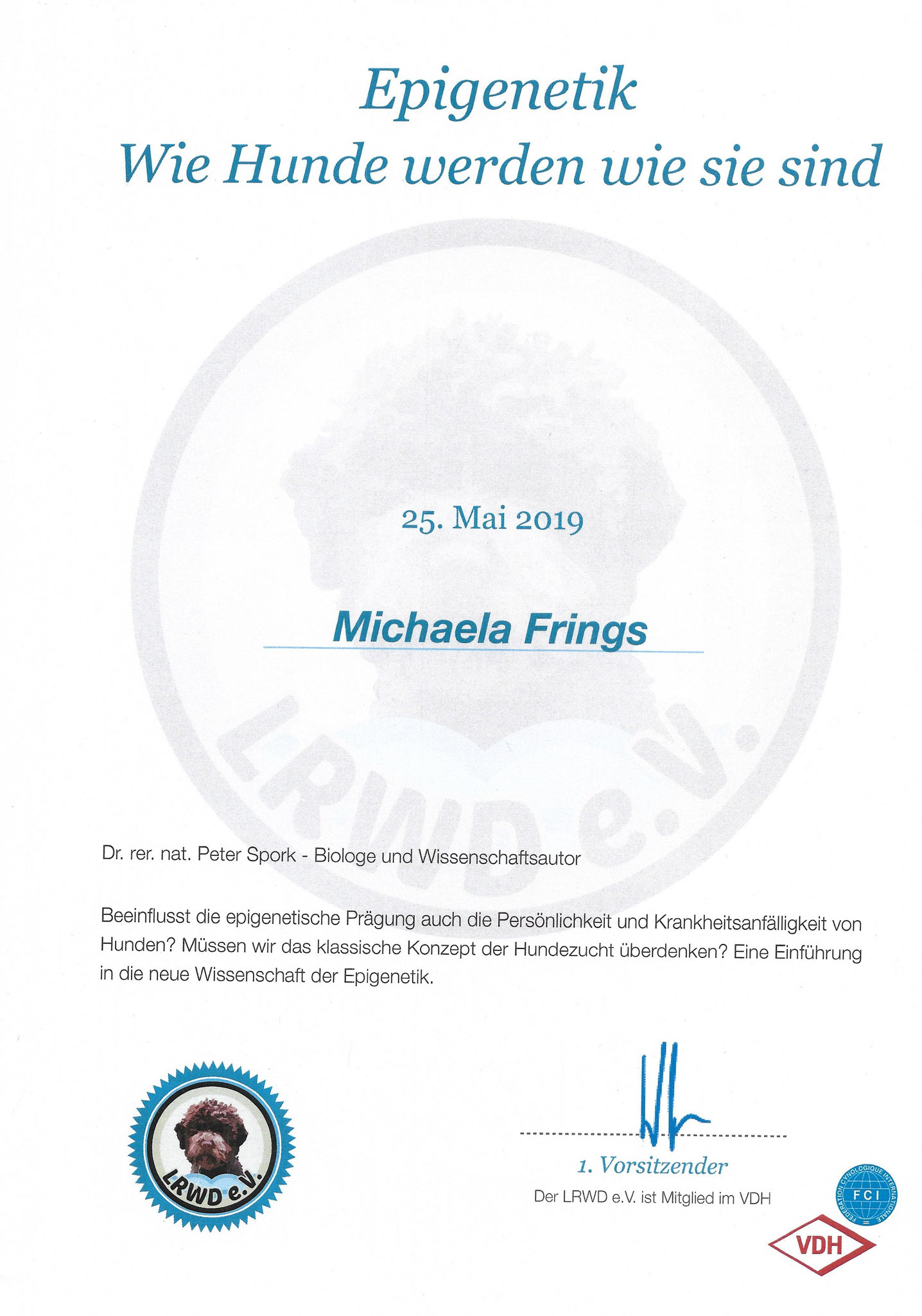Epigenetik 25. Mai 2019