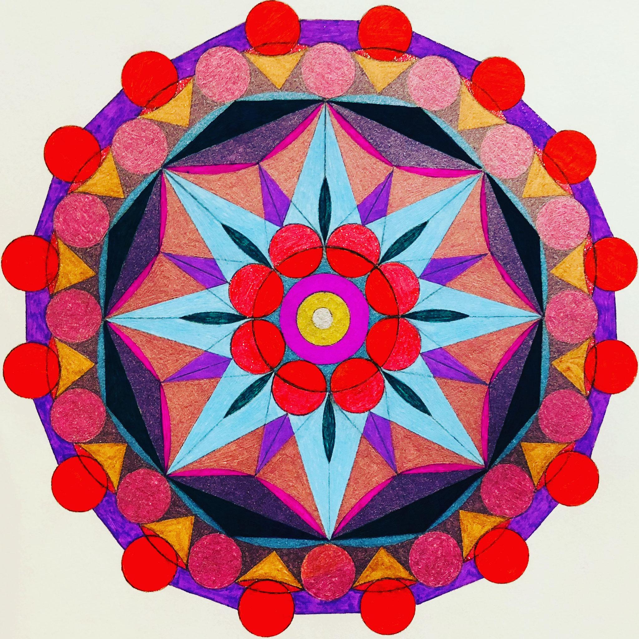 Octahedron x 2 Mandala