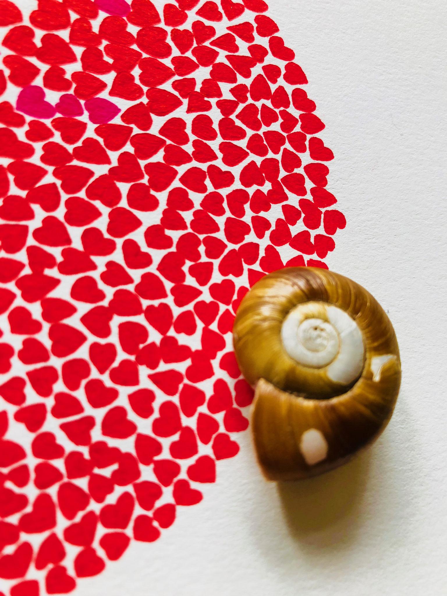 Spiral emanating hearts