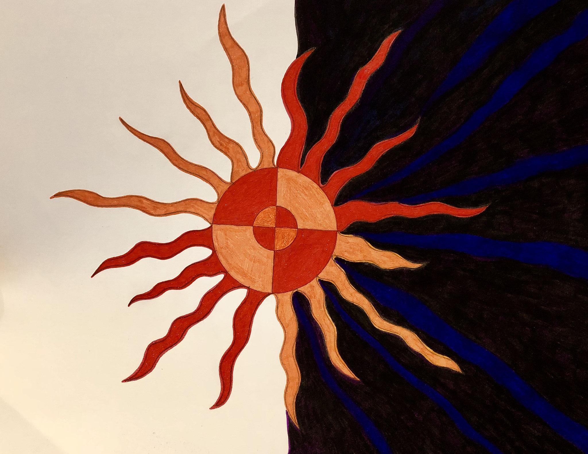 #innersun #twoshades #expansion #light #sun #consciousness #balancingact #letspaintpeace #metaphysical