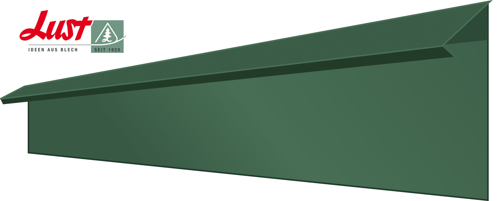 Schneckenblech grün pulverbeschichtet