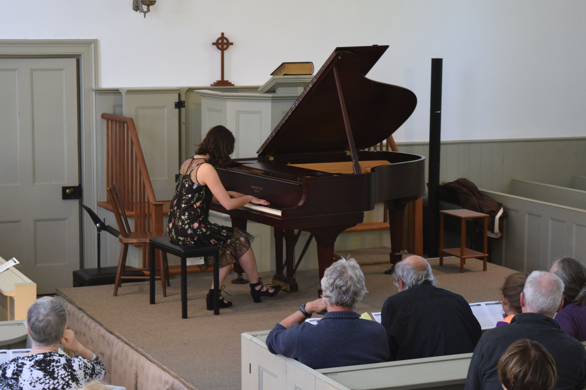 Pianist Olivia Adams in performance.