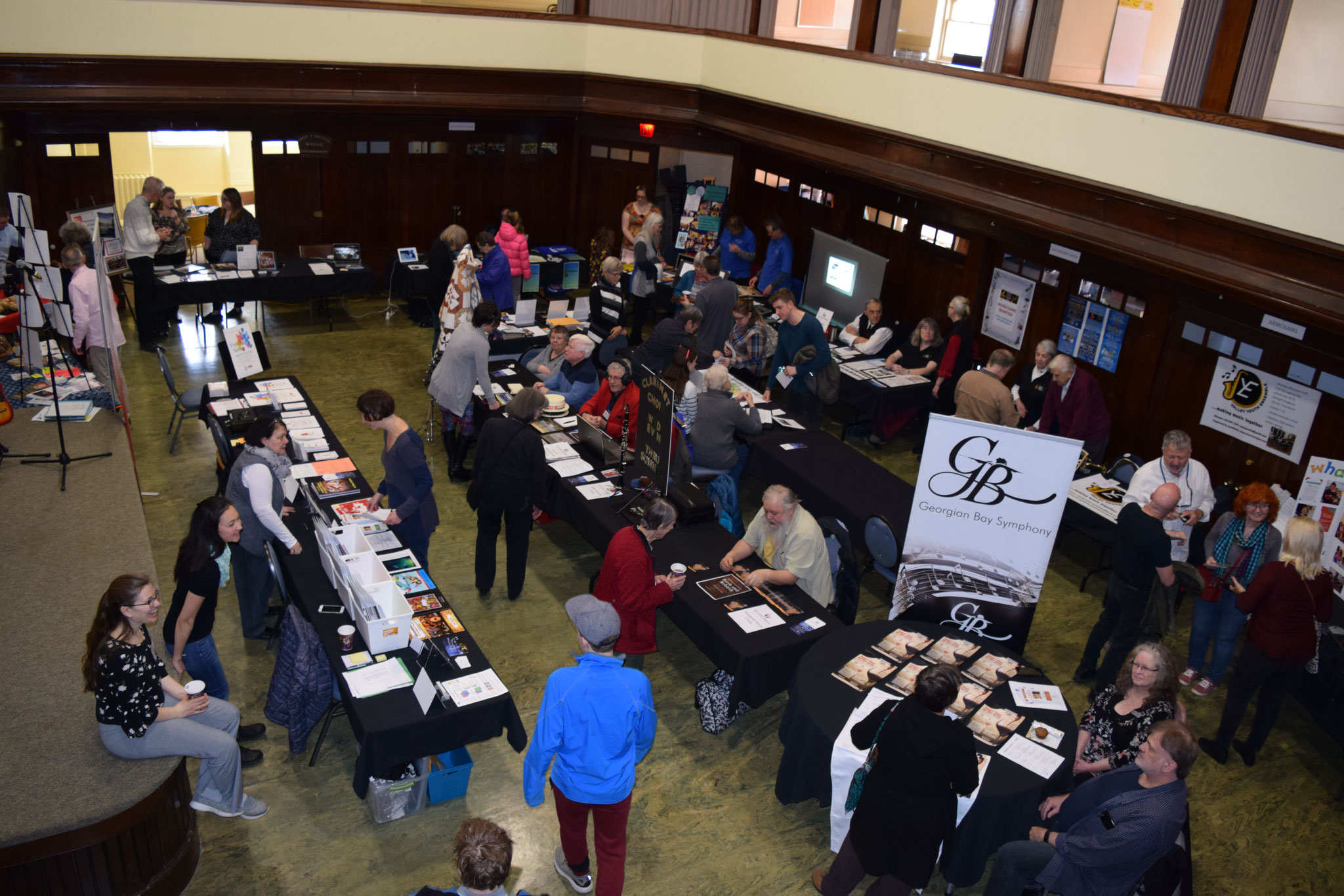 Great overhead shot of the studio space at the Harmony Centre during the Fair.