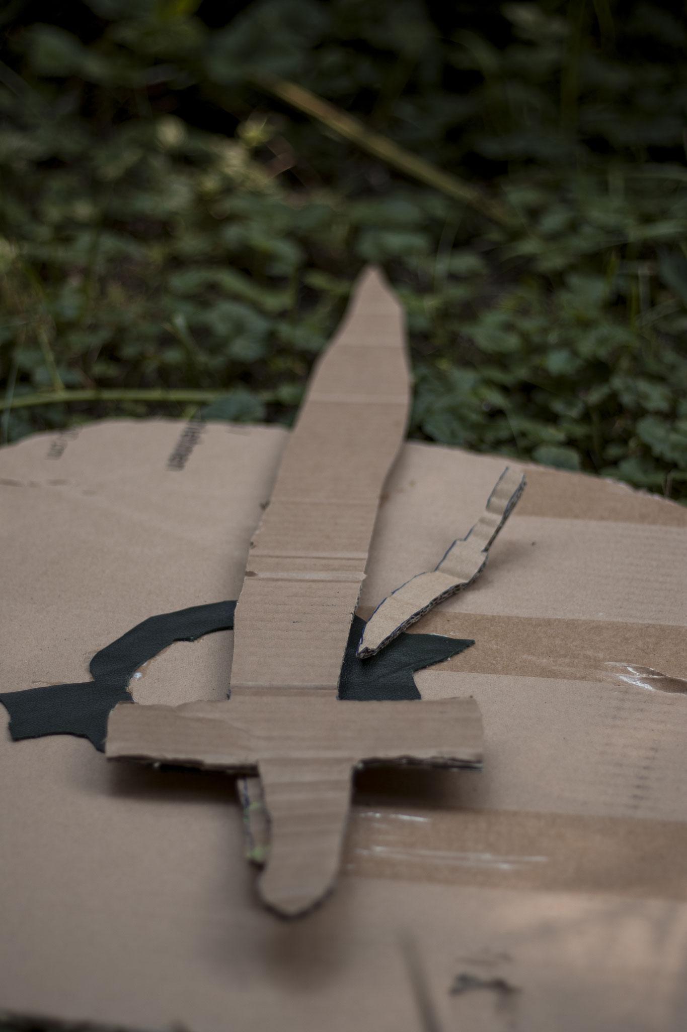 Eigene Wikinger-Waffen basteln ©Verena Wendl