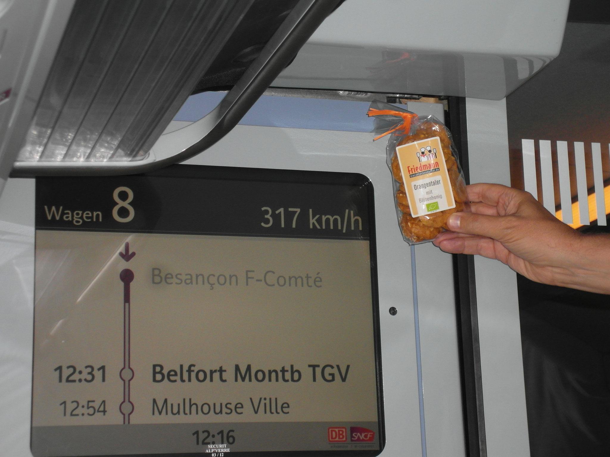 Im TGV Frankreich  2014