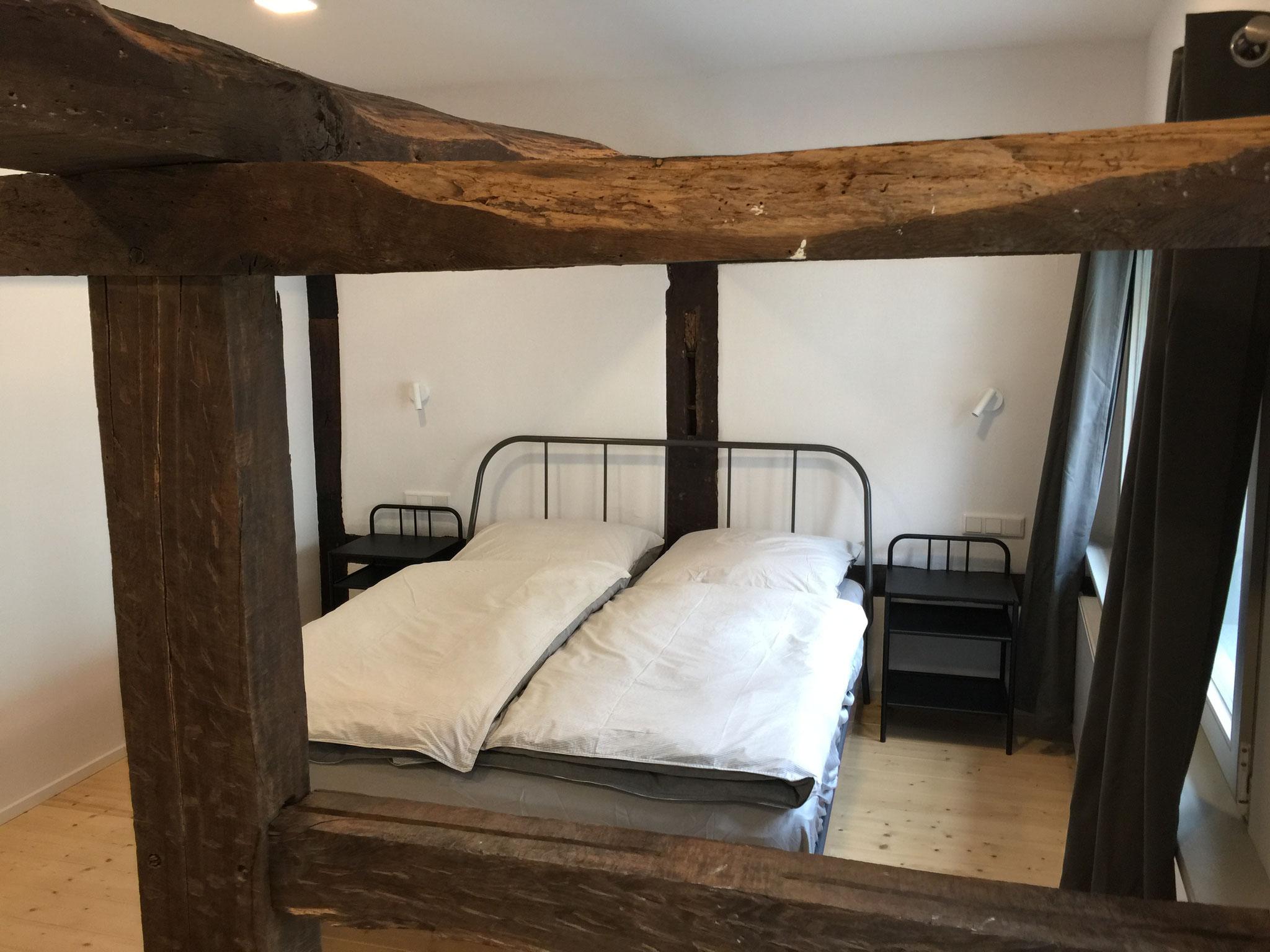 FeWo: Schlafzimmer der Ferienwohnung