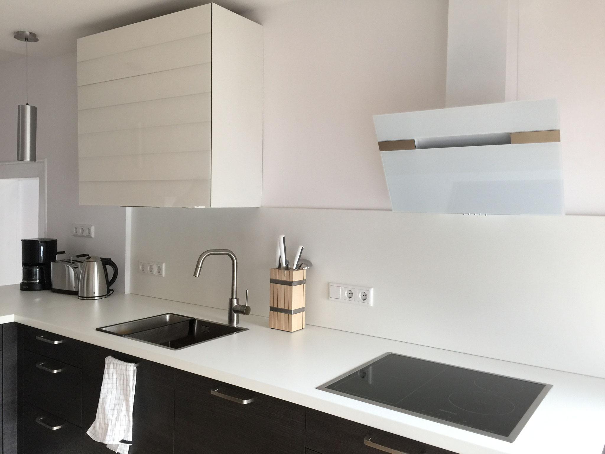 FeWo: Spüle und Induktionsfeld in der offenen Küche