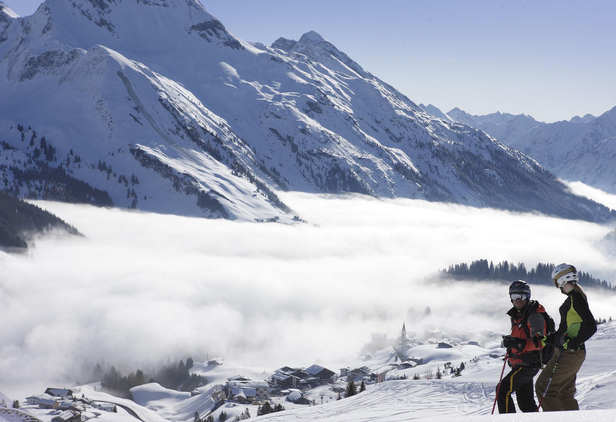 Ski Arlberg, Blick auf Warth