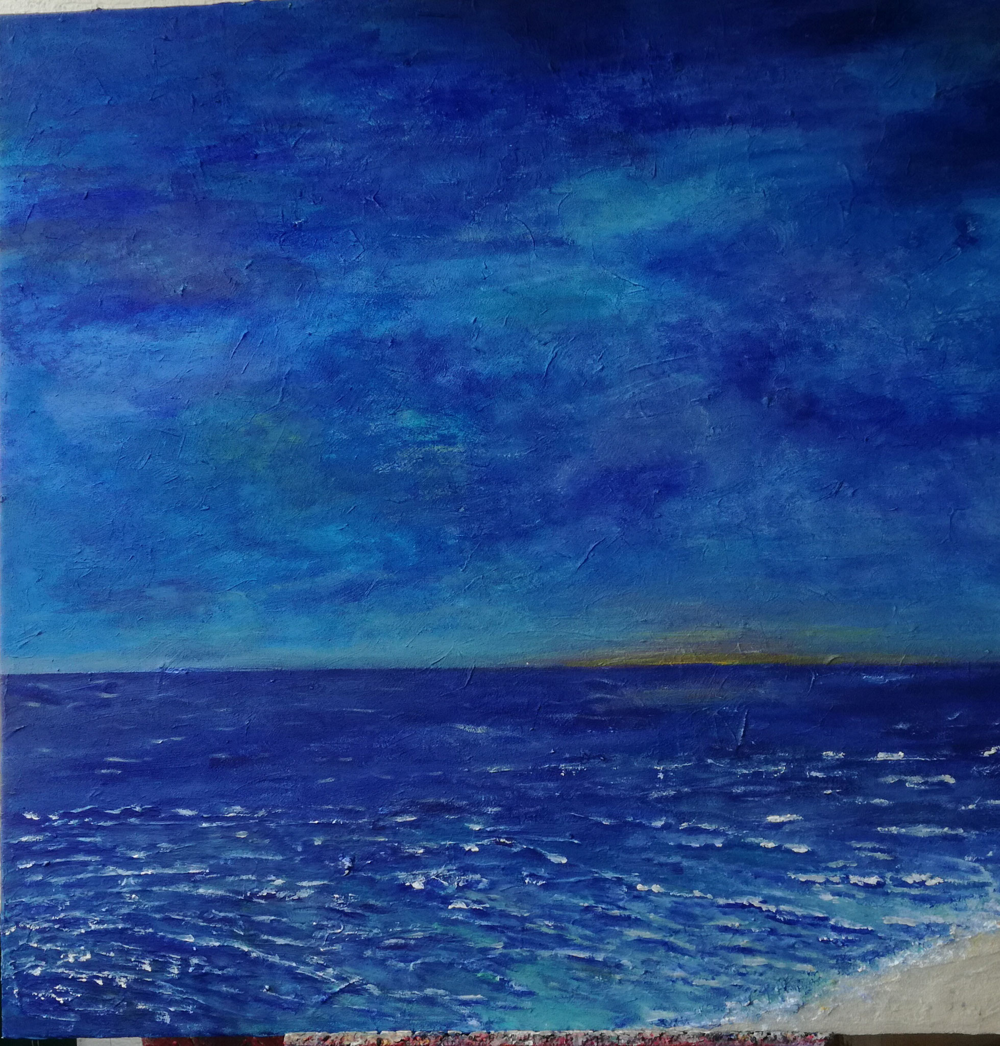 Meditation am Meer  100x100  € 1200.-
