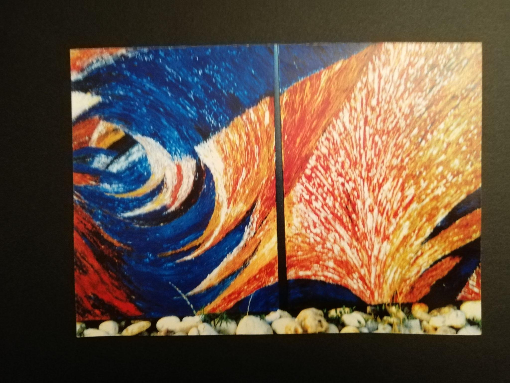 OHNE TITEL Doppelbild á90x70 verkauft 2001 um   S 36.000.- nach einer Kunstmesse