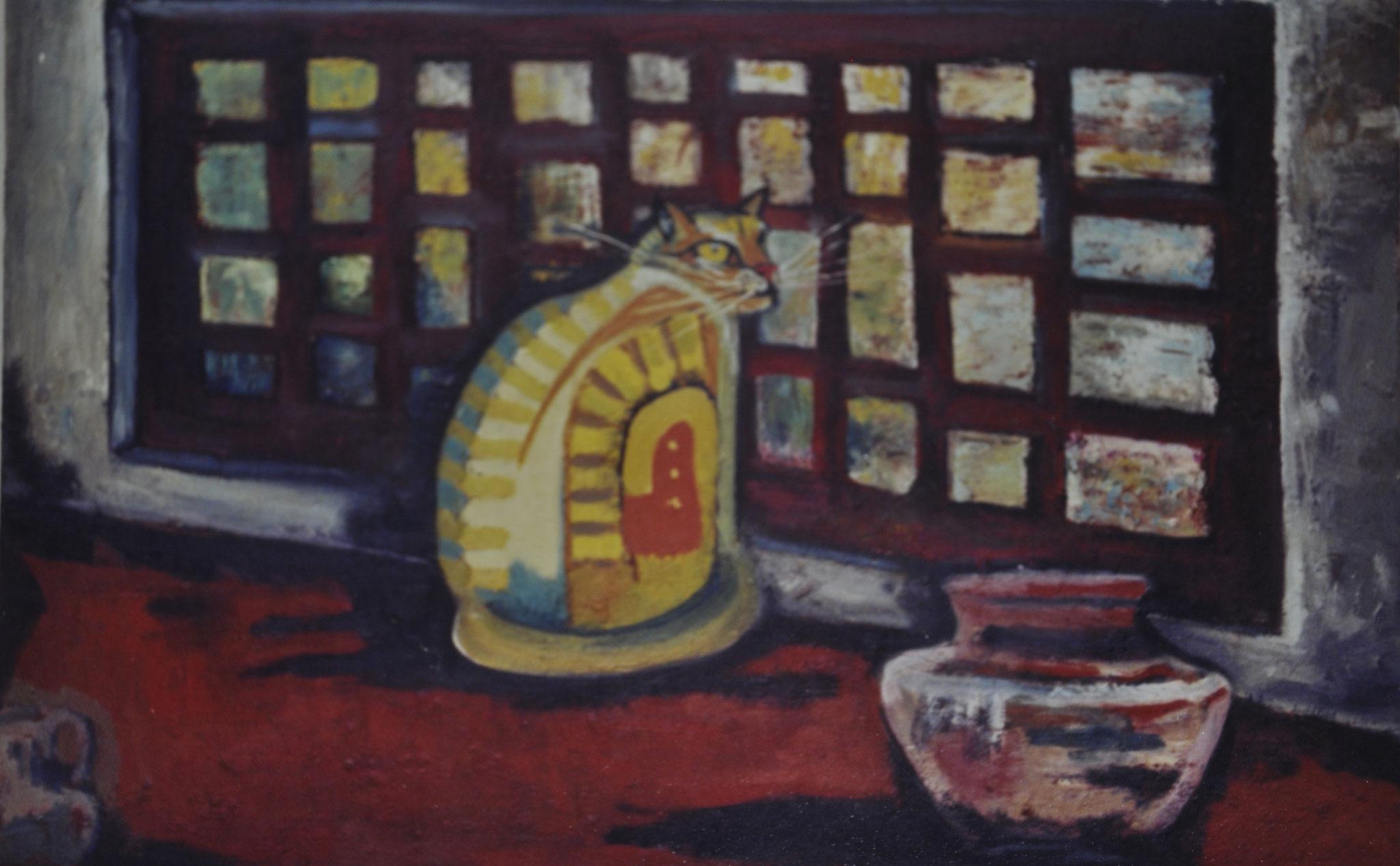 Título: asecho    Técnica: óleo / tela      Medidas: 70 x 80 cm