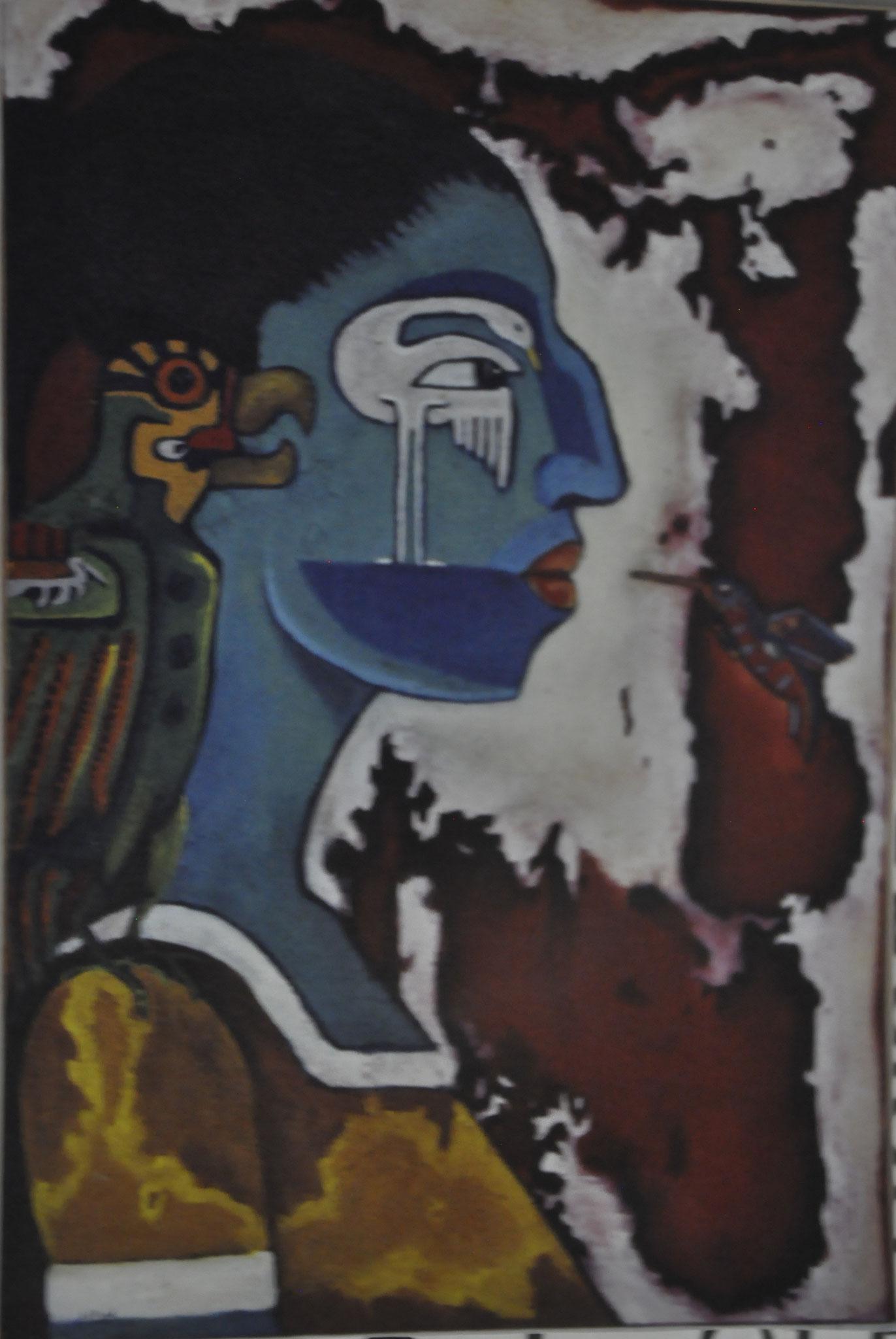 Título: el beso    Técnica: óleo / tela      Medidas: 80 x 60 cm