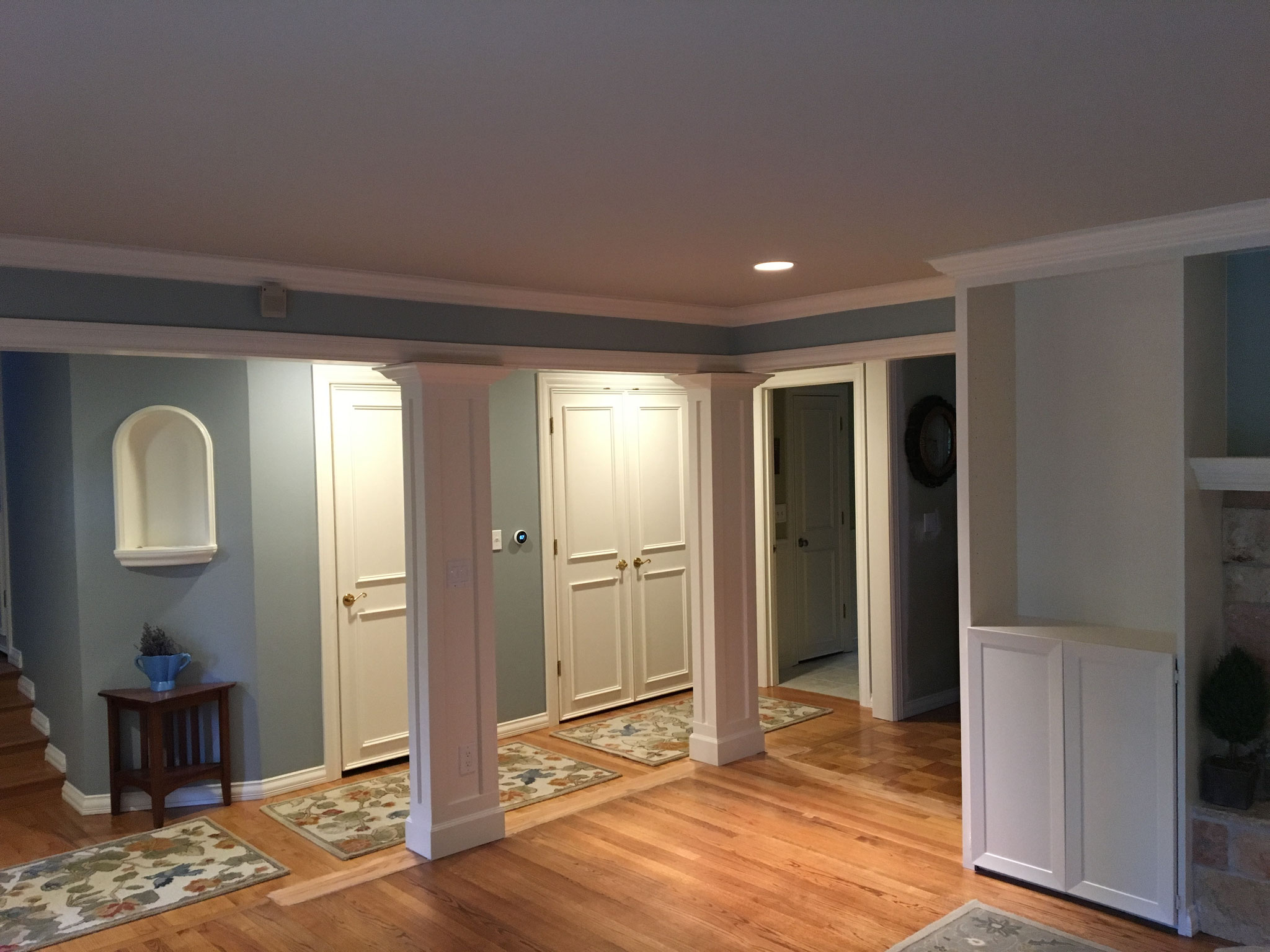 Woodwork was repainted like new ....walls too