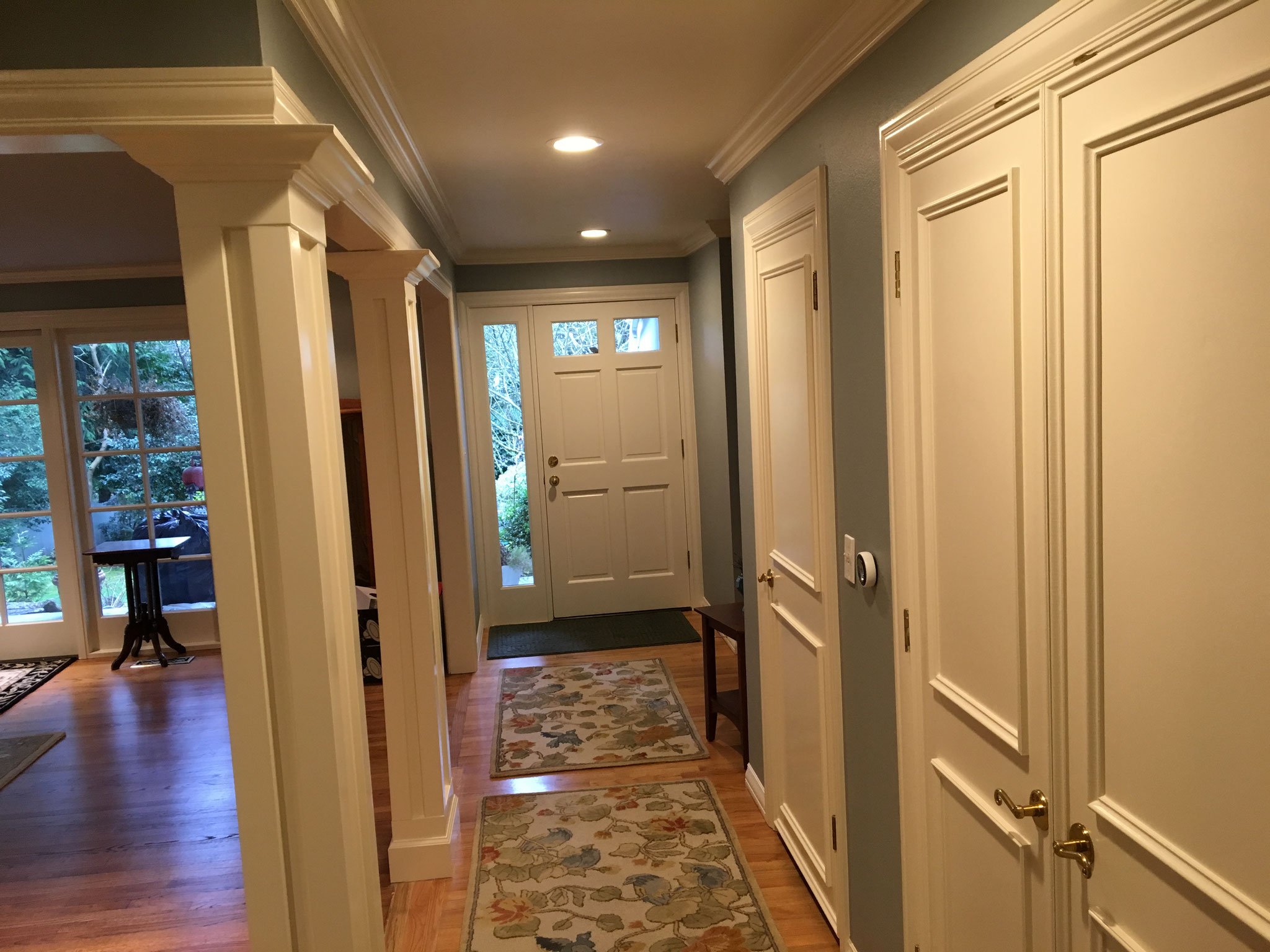 Beautiful white woodwork painted and walls and ceilings too...feels new again...