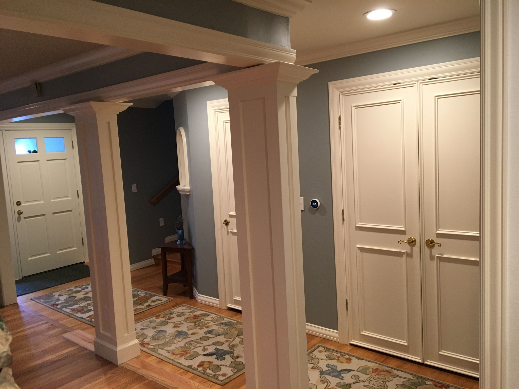 White woodwork gets fixed up...all new again...