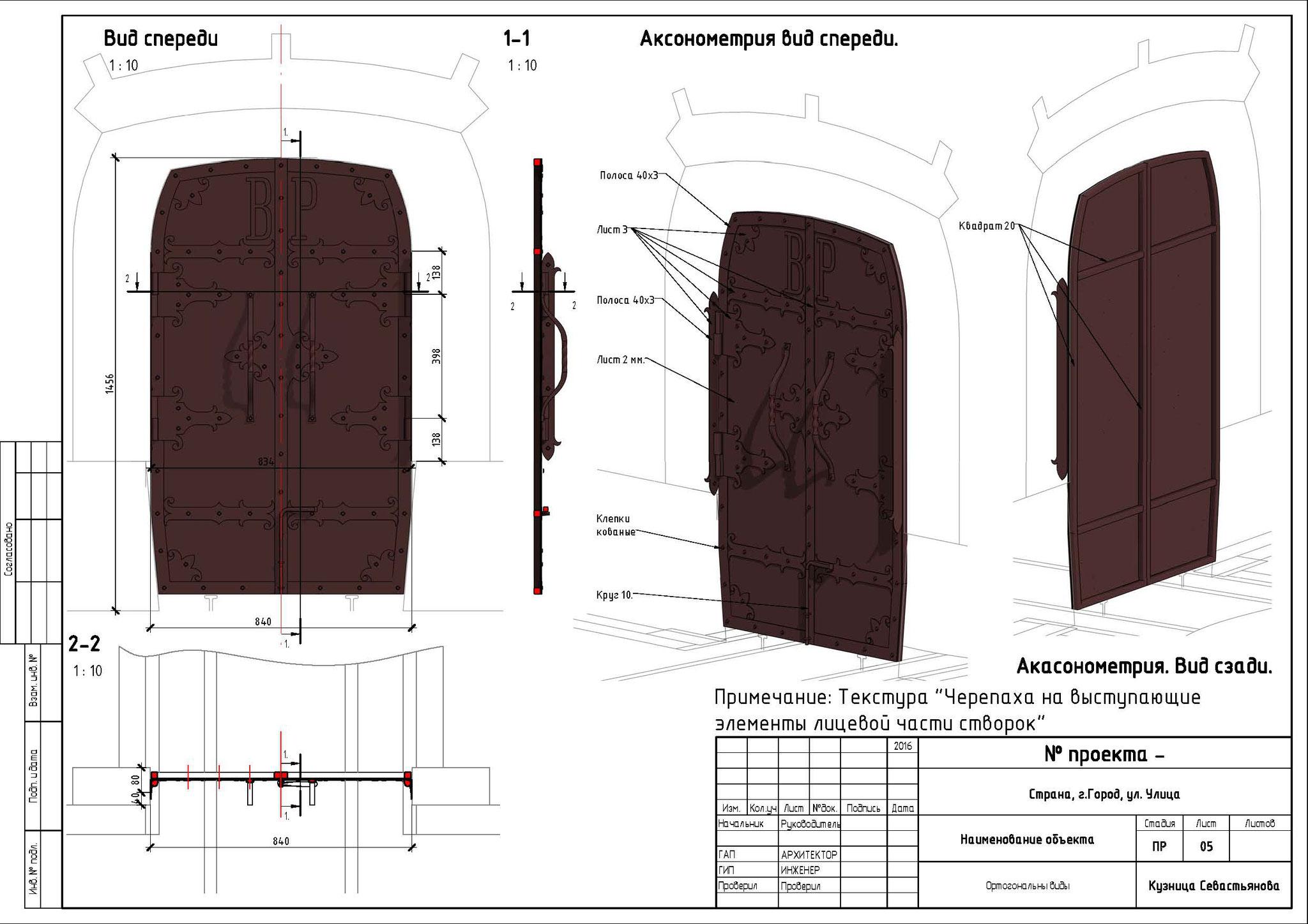 Дверь с коваными жиковинами