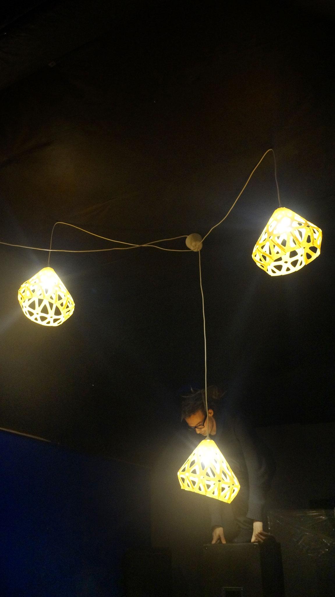 Подключаем желтую люстру ZAHA LIGHT!