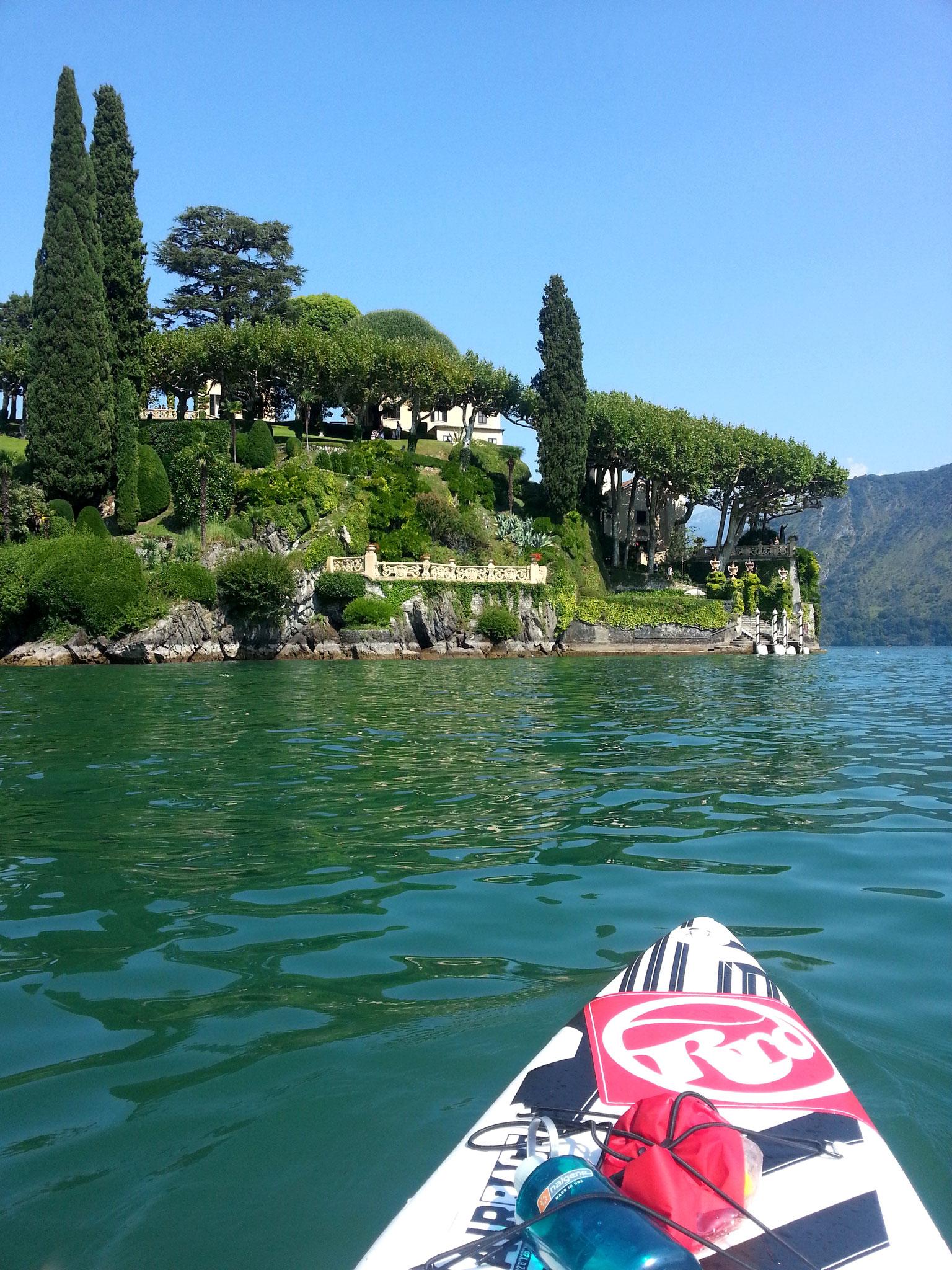 Blick auf die Villa del Balbianello