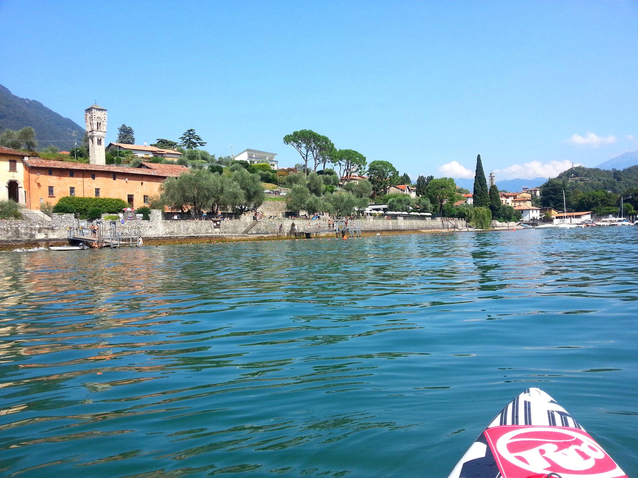 Blick auf den Lido di Ossuccio