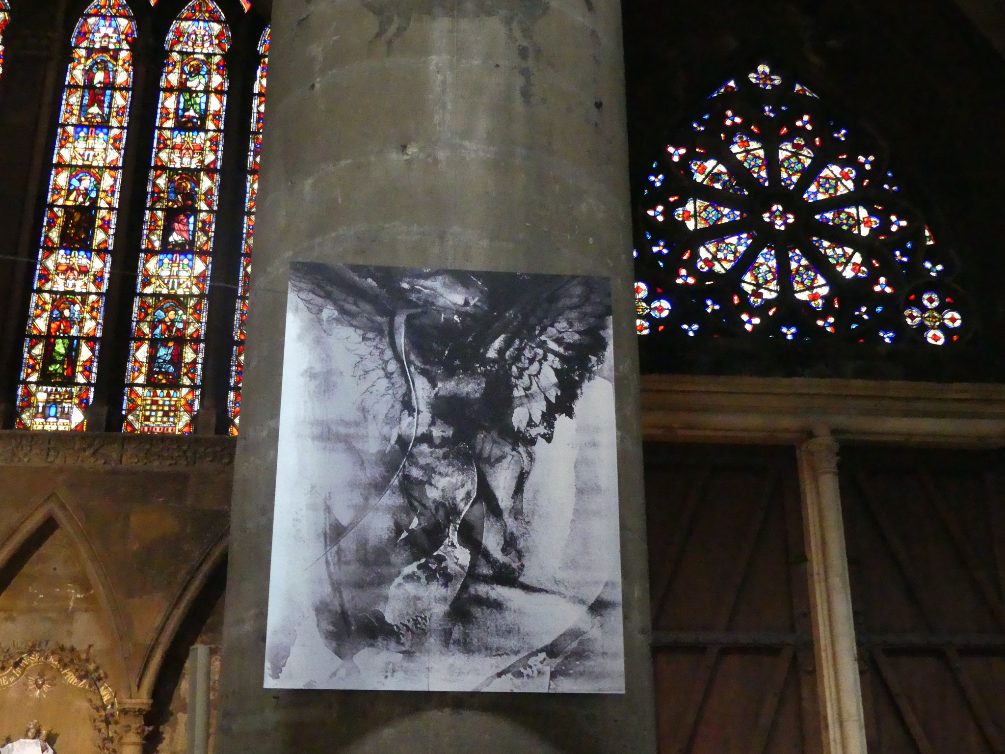 """Exposition Cathédrale de Metz """" Un ange passe"""", Latifa Bermes, Mai 2018"""