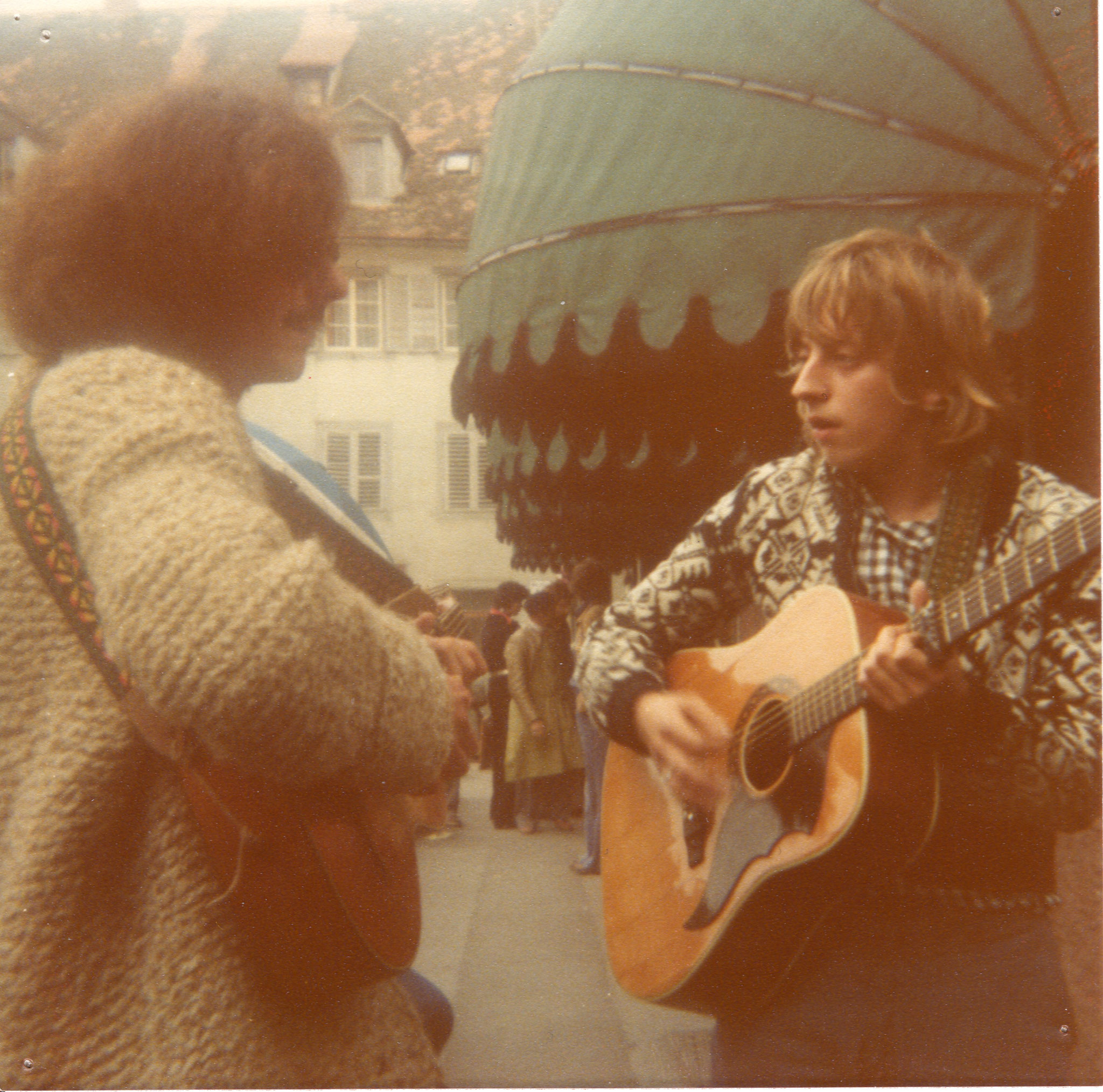HOMBURGER und ANDREAS DANNENMAYER, Konstanz 1976 (Foto: Homburger)