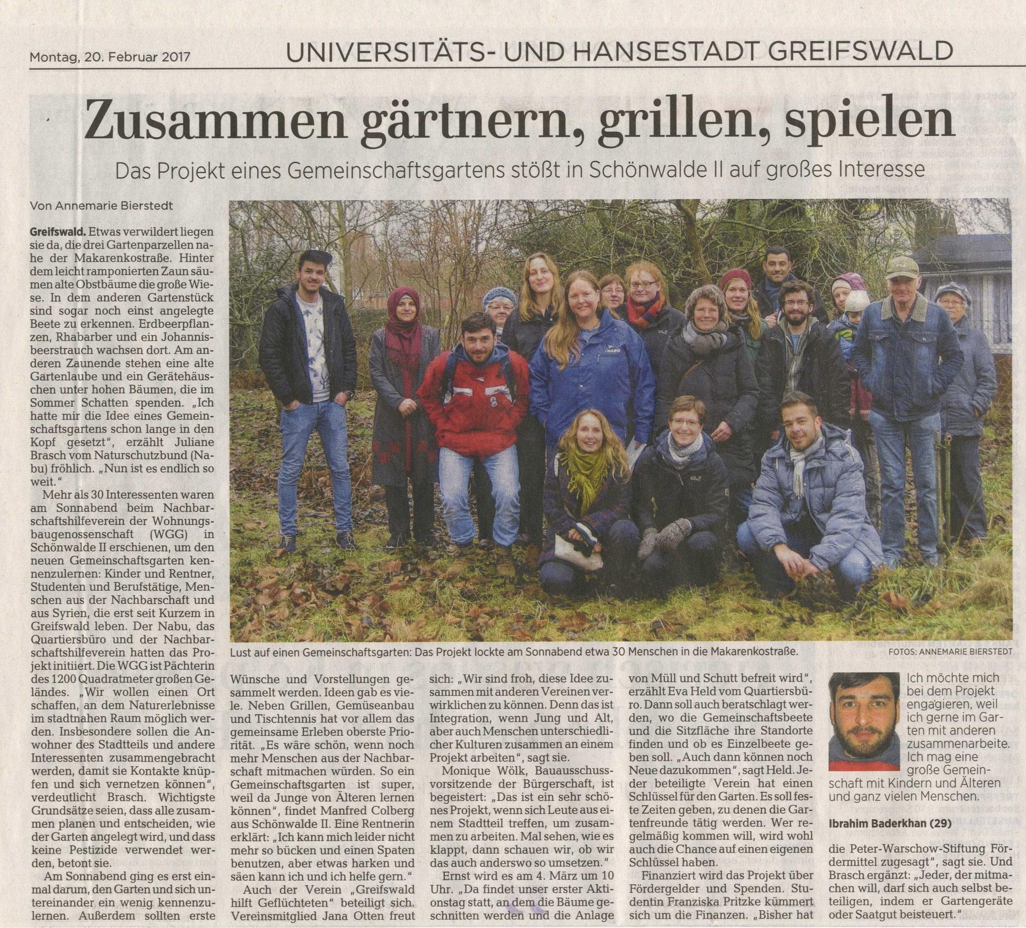 Die Ostseezeitung war auch dabei und berichtete.