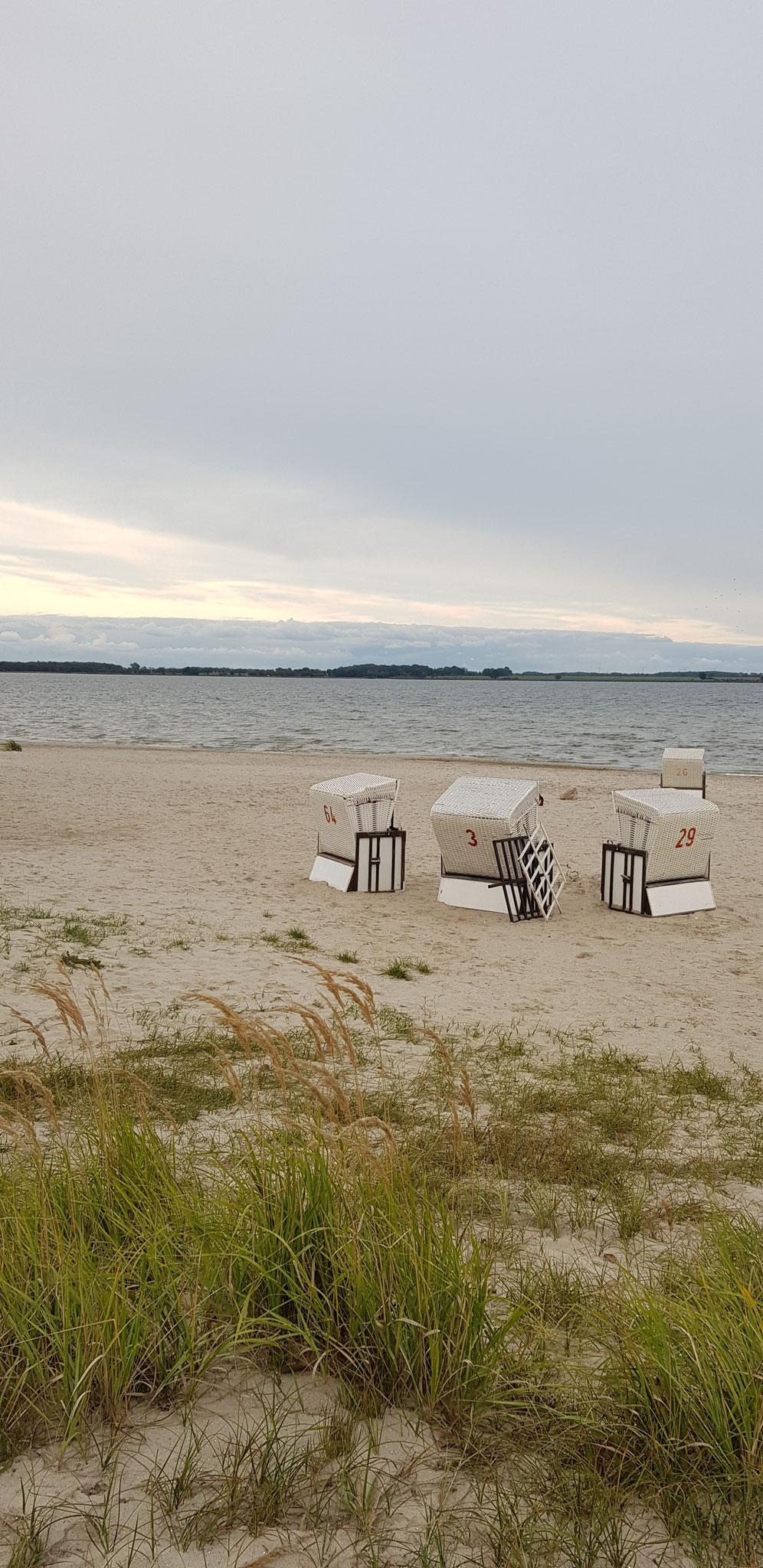 """""""Herbststimmung mit Strandkörben"""" - Greifswald © Sina Kreißig"""