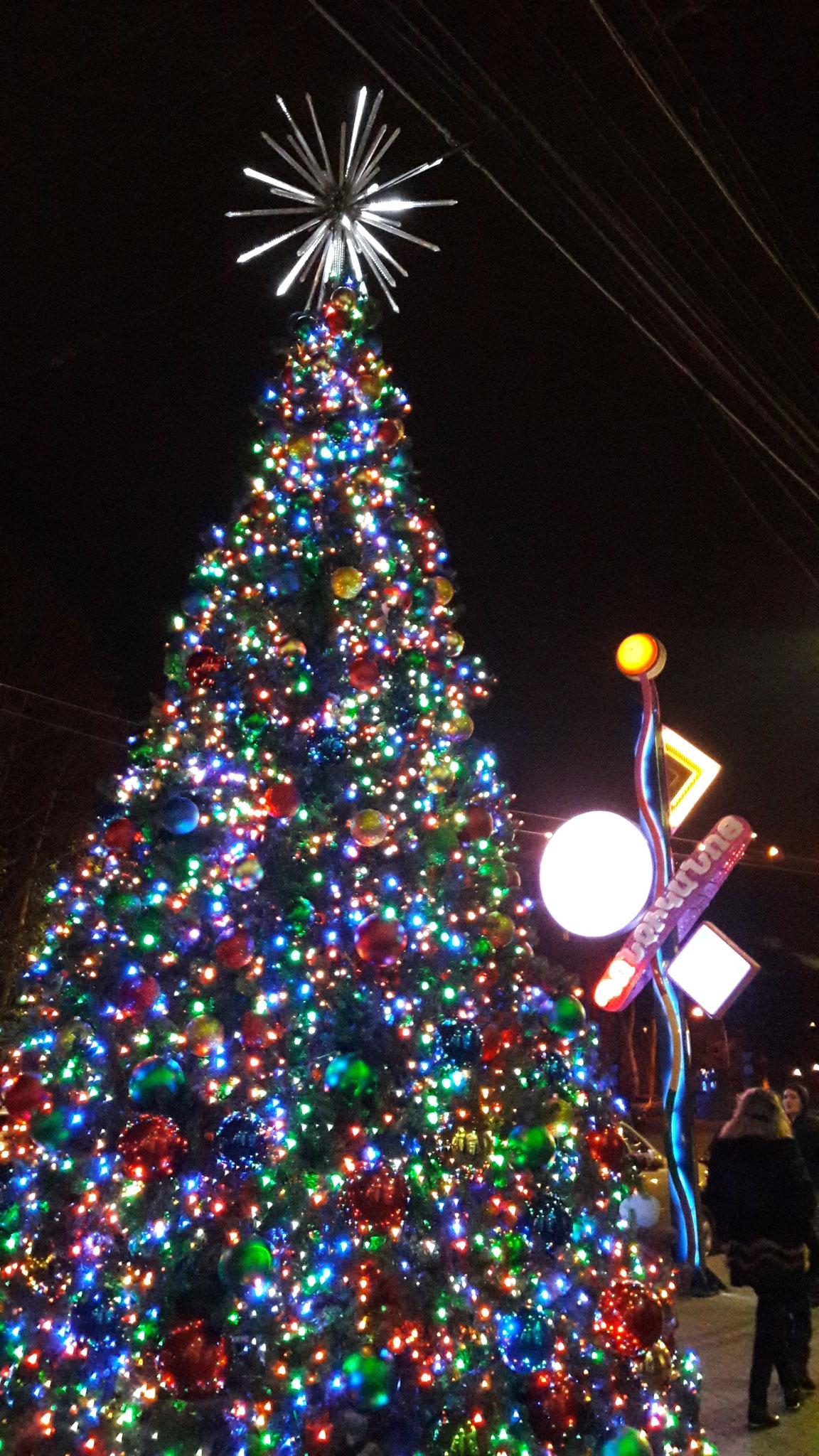 Weihnachtsbaum vor Grand Candy 2016
