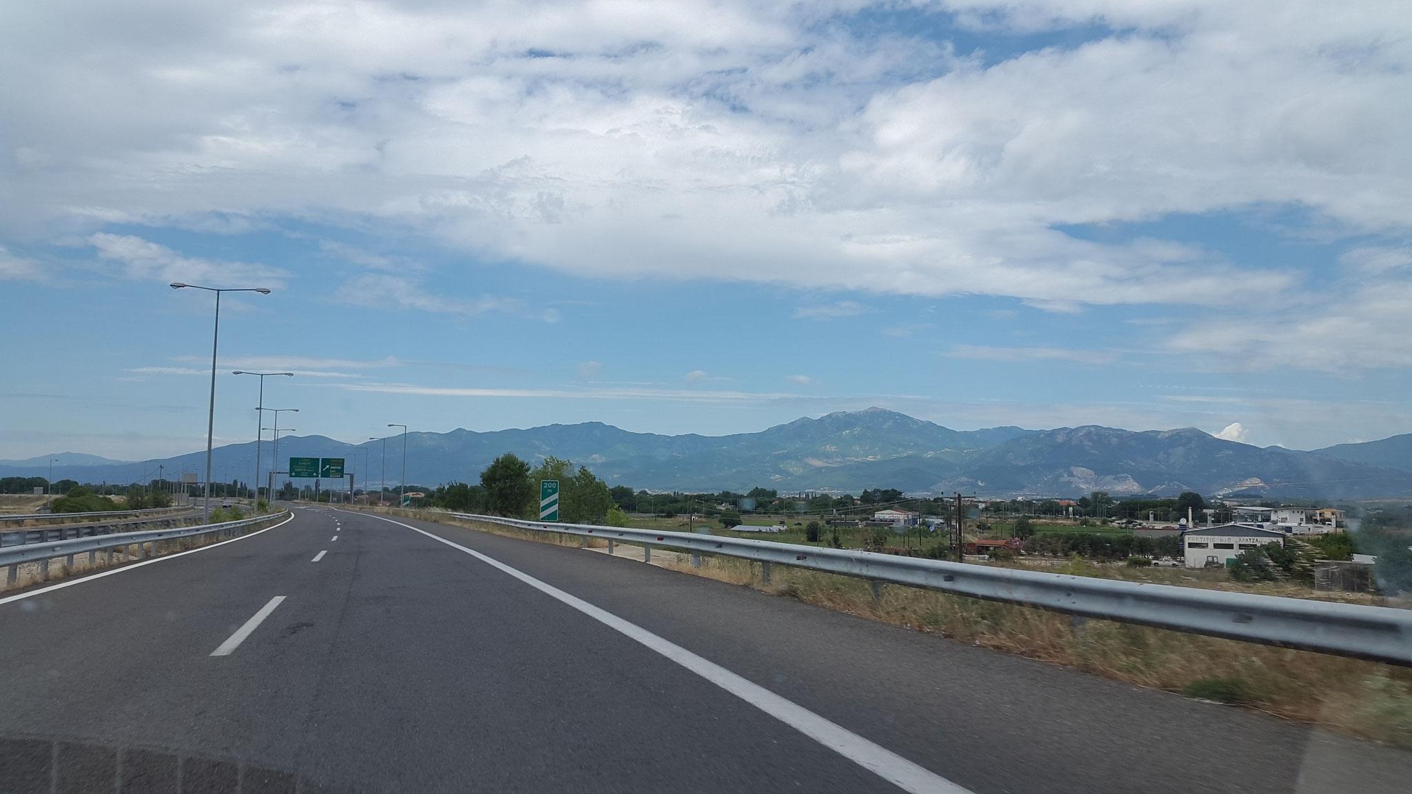Leere griechischsche Autobahn