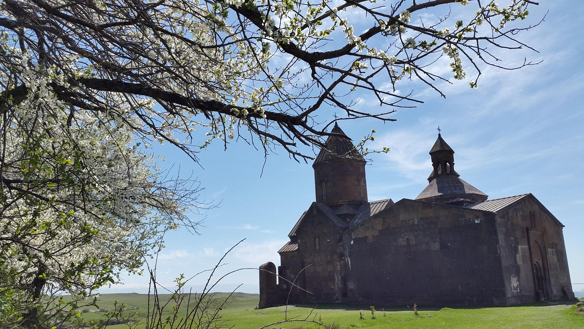 Kloster Saghmosavank Ende April