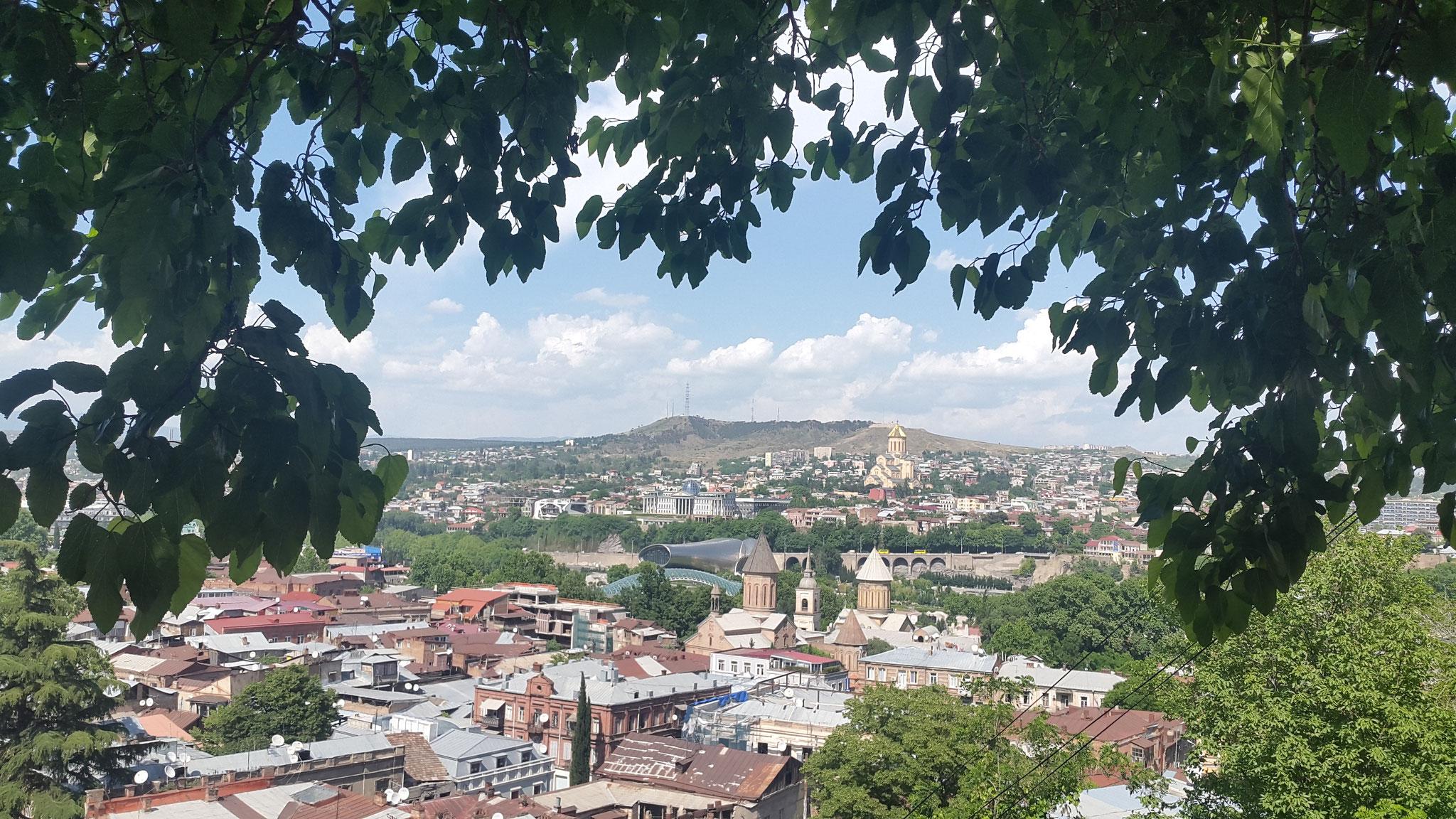 Blick über Tbilissi