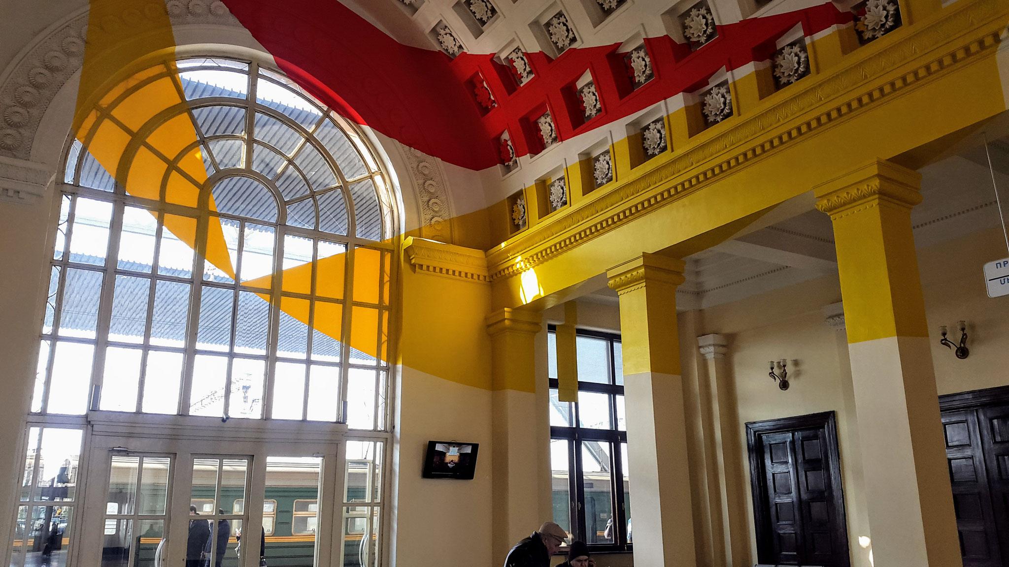 Moderne Kunst im Bahnhof von Yerevan