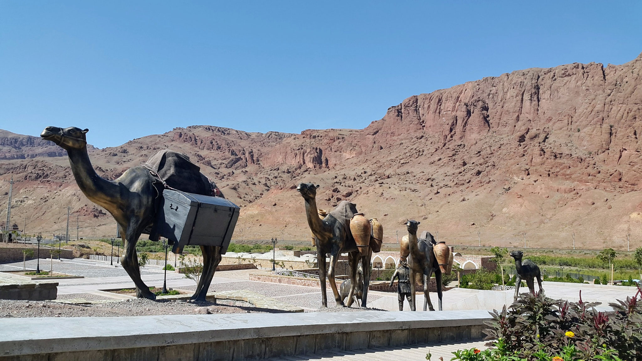 Khajeh Nazar Caravanserai bei Jolfa, Iran