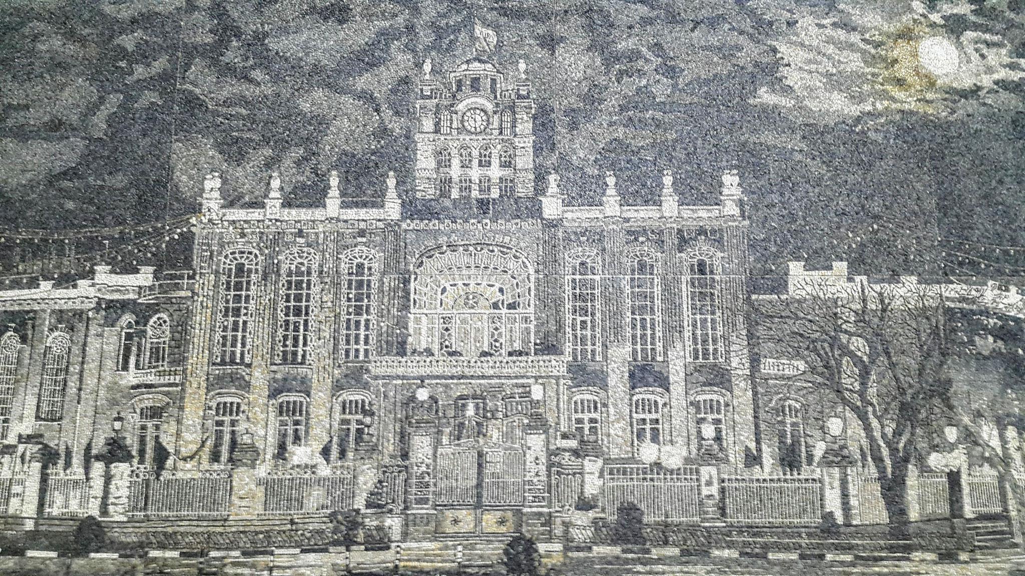 Rathaus in Täbriz, Iran - Mosaikbild