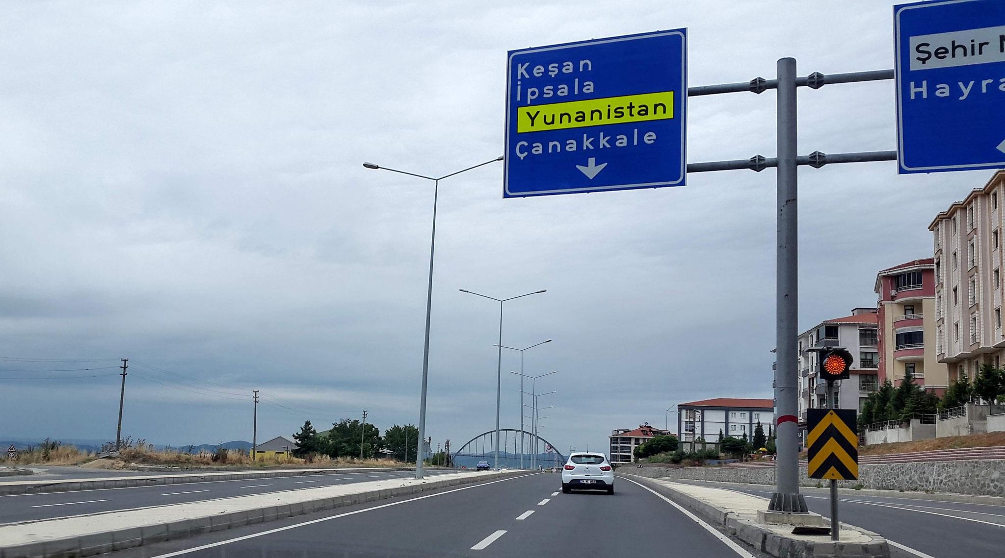 Türkisch für Anfänger: Wir müssen nach Yunanistan (= Griechenland)