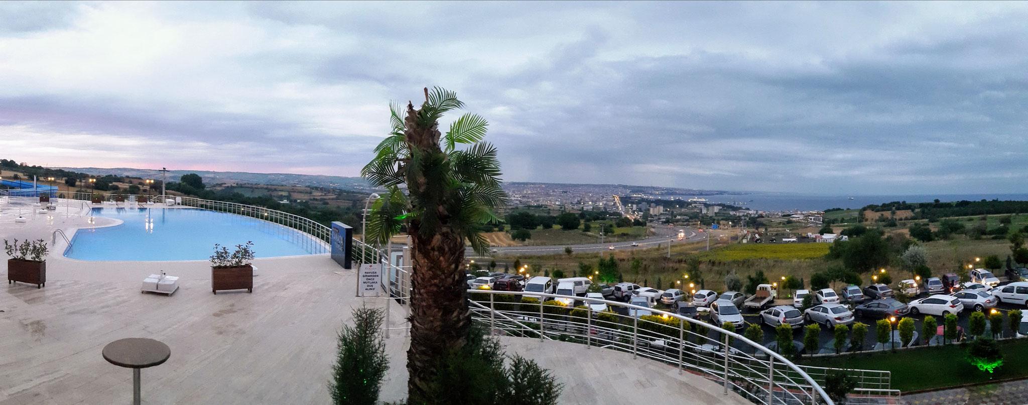 Letzter Stopp in der Türkei im Hotel mit Blick aufs Meer