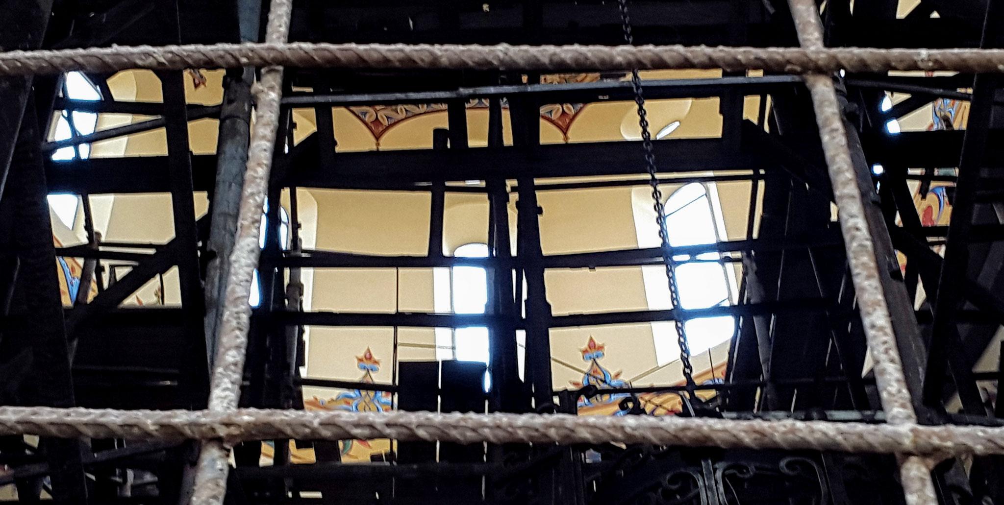 Baustellenblick in die Allerheiligenkirche
