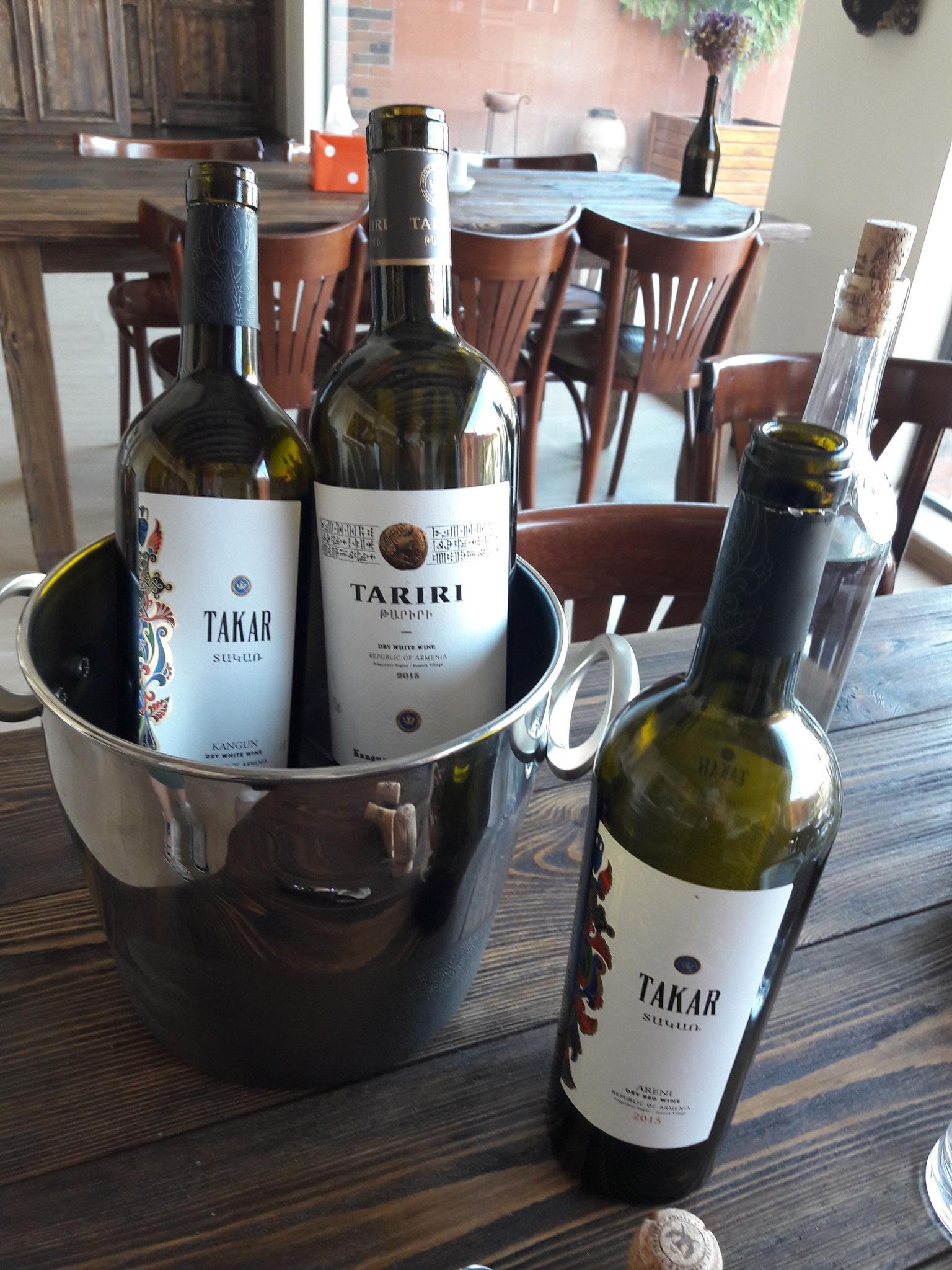 Weinprobe bei der Armenia Wine Company