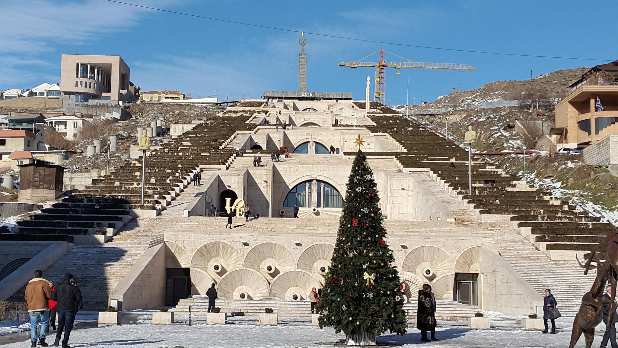 Jerevan am 10. Januar 2016: Der Schnee der Silvesternacht ist fast wieder verschwunden.