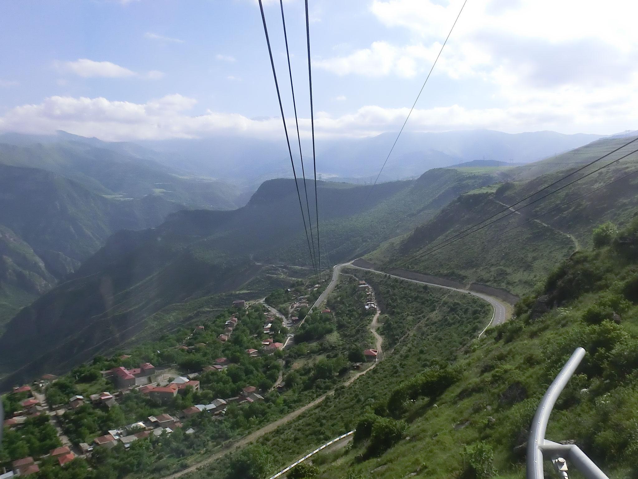 In der Seilbahn nach Tatev