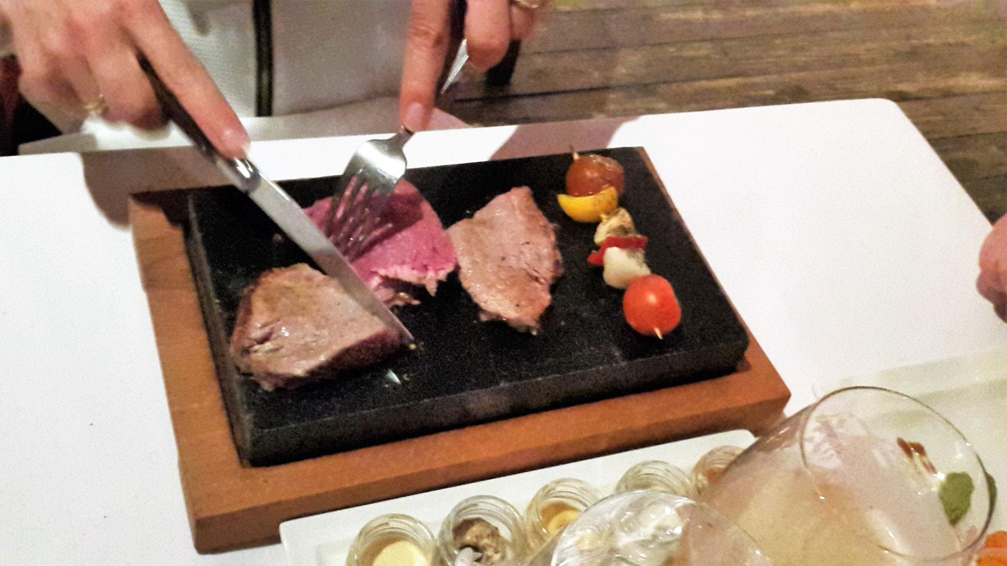 Steak vom heißen Stein zum selber grillen