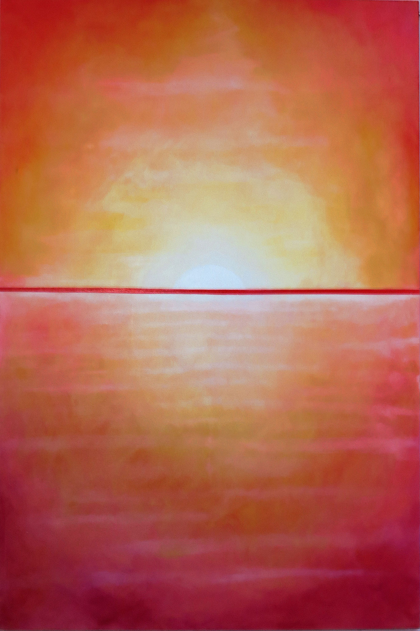 """Evening"" - Acrylic on canvas - 150 x 100 cm"