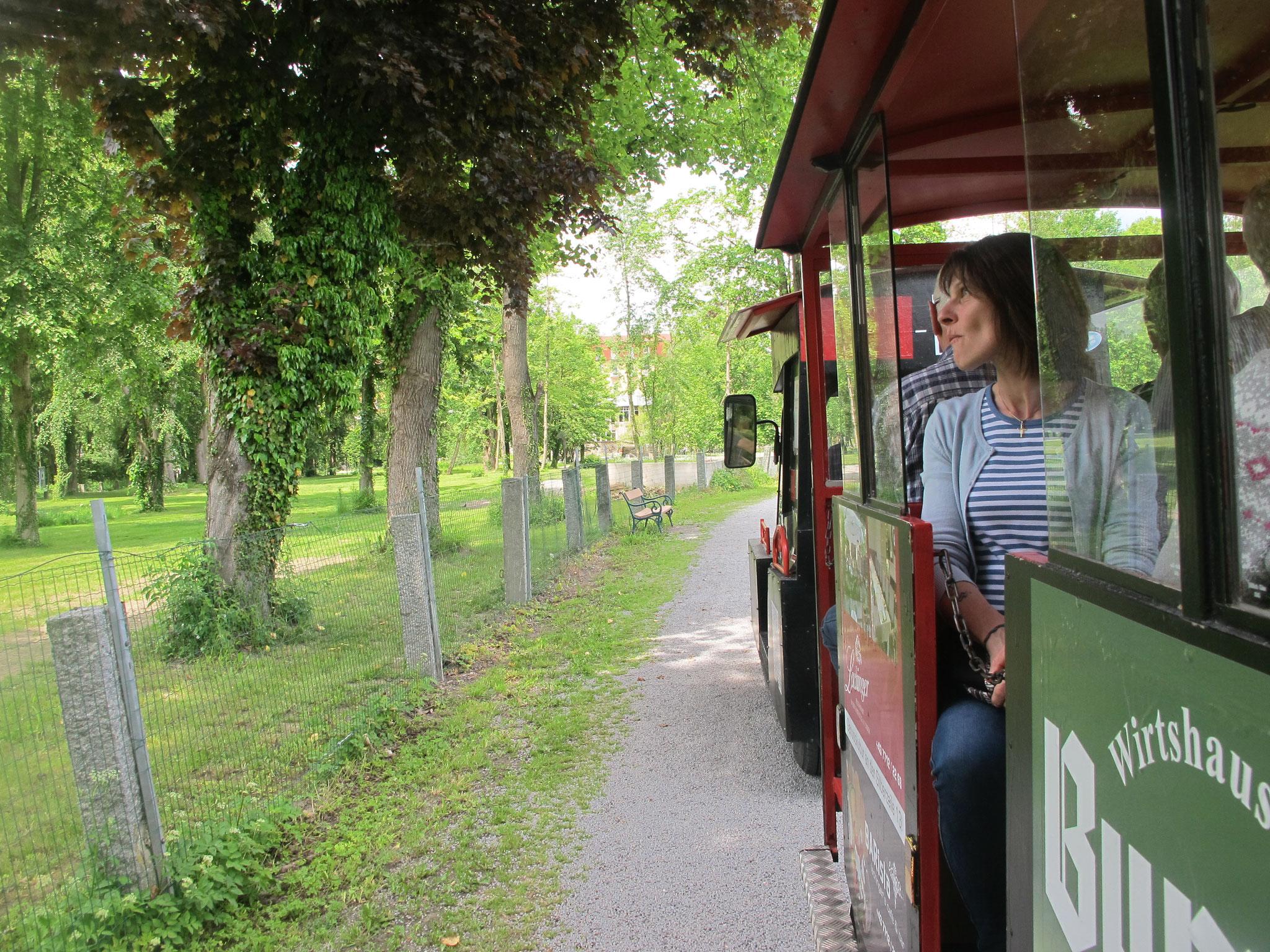 per Express durch den Stadtpark