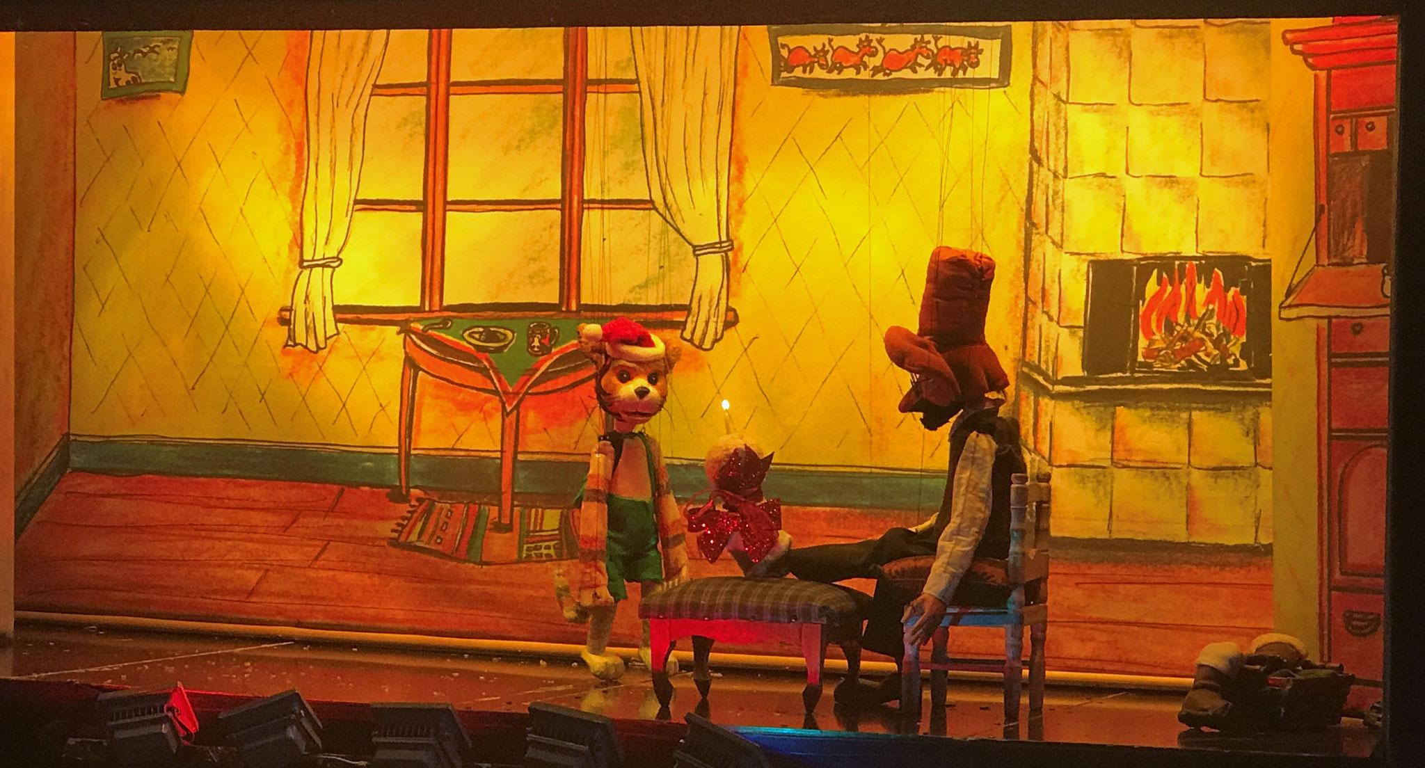 Besuch eines Marionettentheater bei uns im Kindergarten