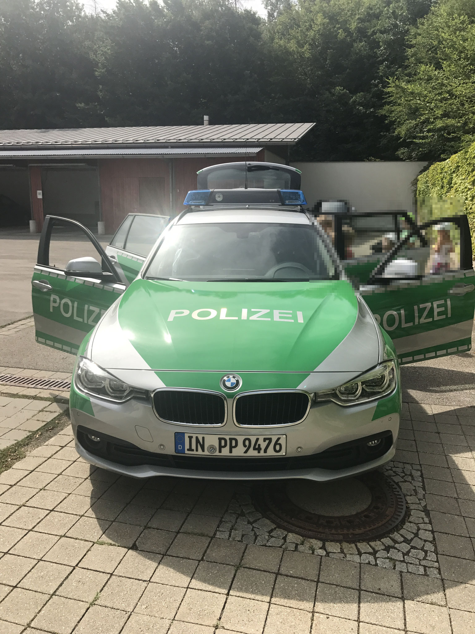 Besuch der Polizeistation in Germering