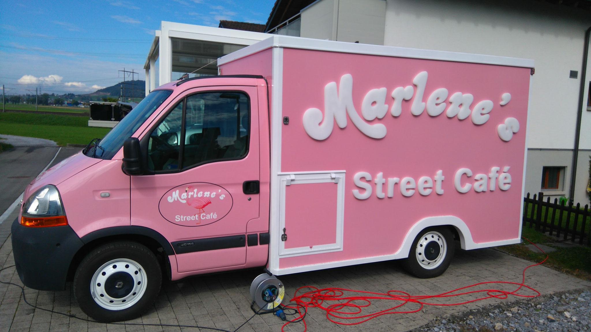 Beschriftung Marlenes Street Café