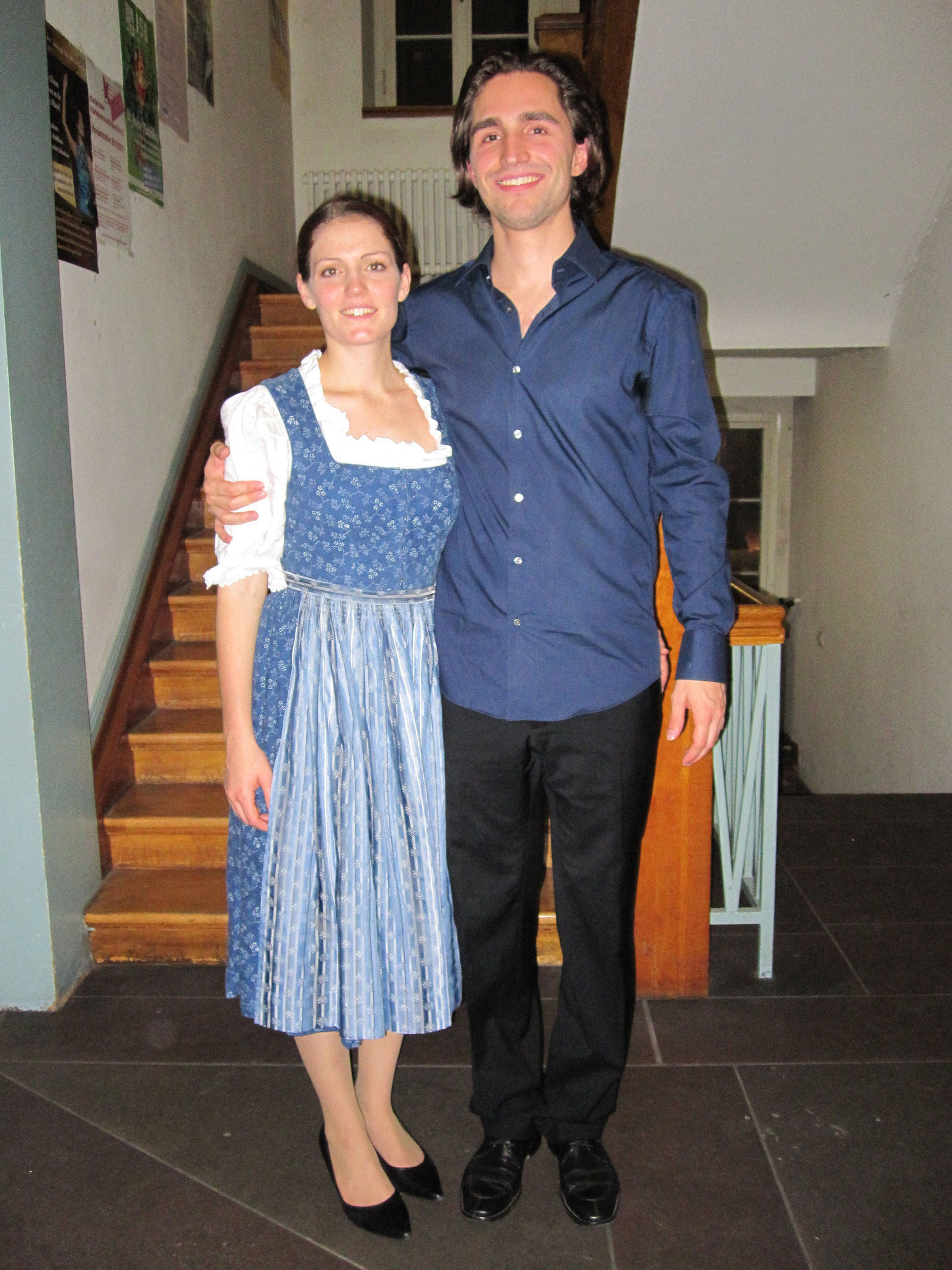 """""""Deutsche Volkslieder"""" zur Kammermusikprüfung 2010 mit Lucian Eller im Gebäude Karlstrasse der HfM Karlsruhe"""