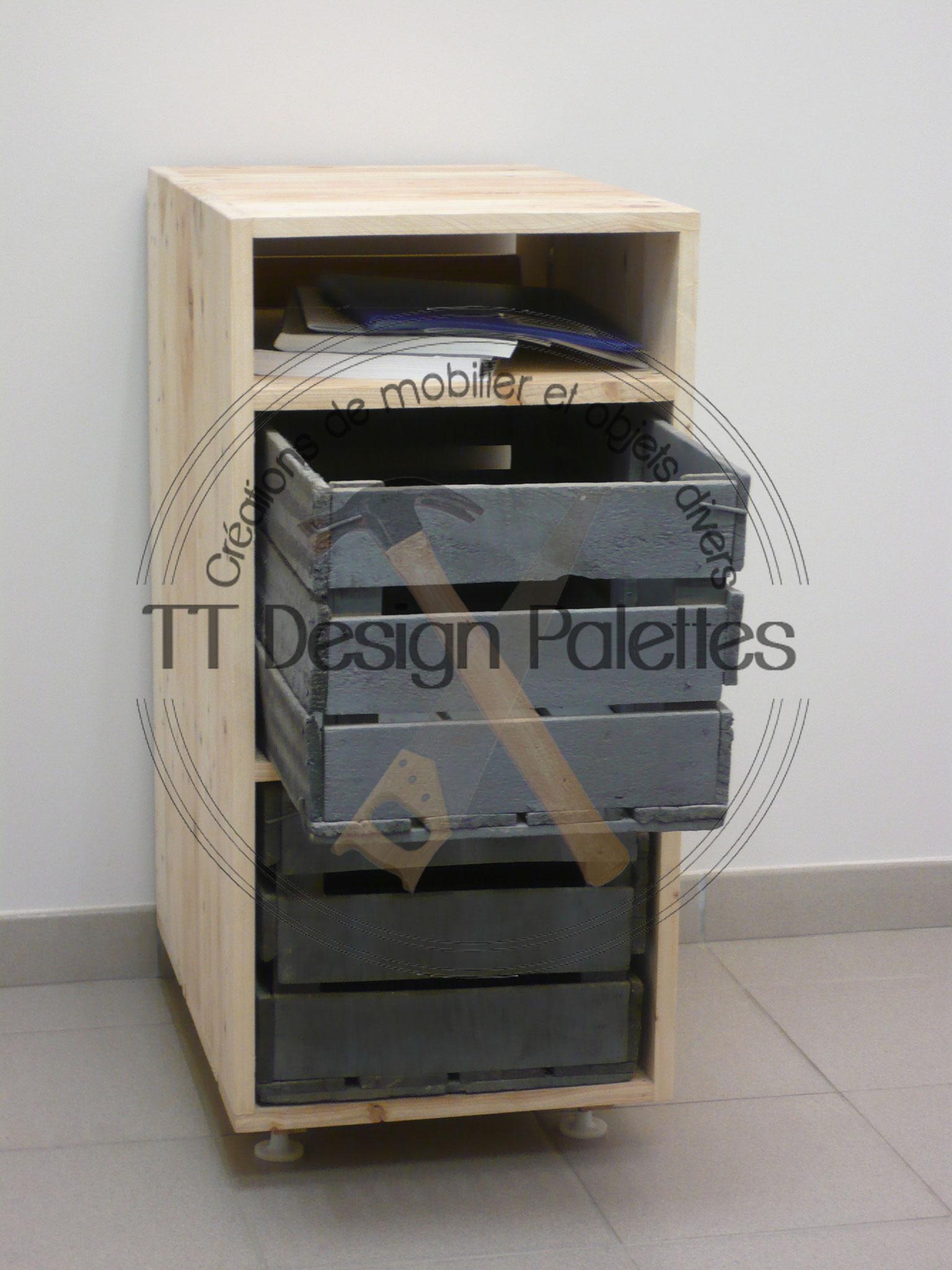 meuble et caisse de récupération