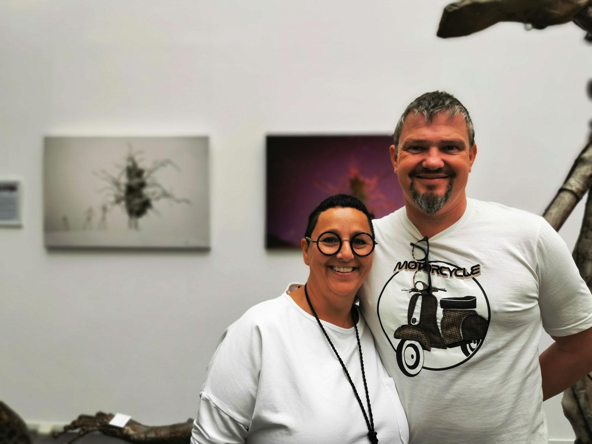 DANKE an Andrea und Gerhard für euren Besuch und das Angebot die Galerie mit einem ARTspace für die junge Kunst zu erweitern!